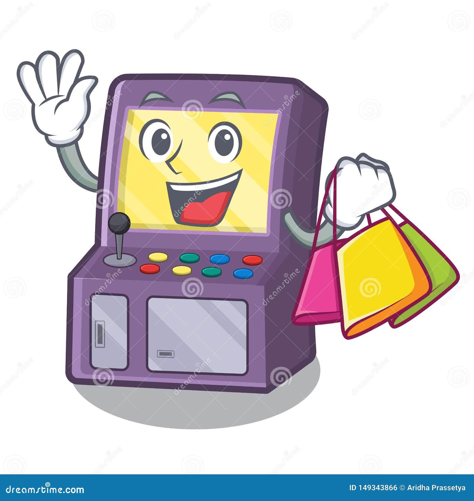 Shopping toy arcade machine in cartoon drawer