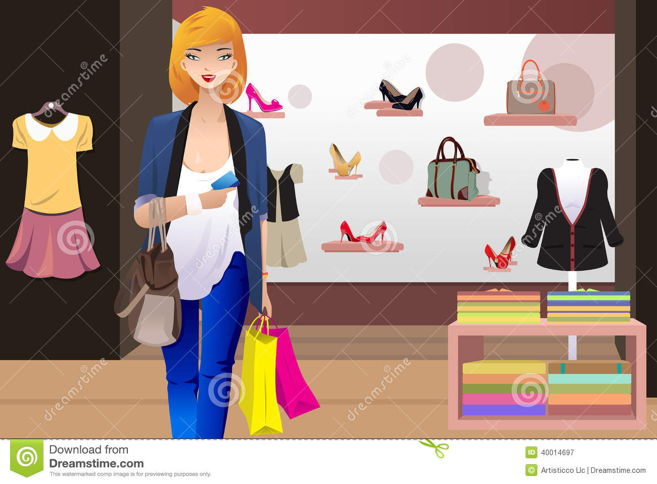 Clip Art Clothing Store The clothing store royalty