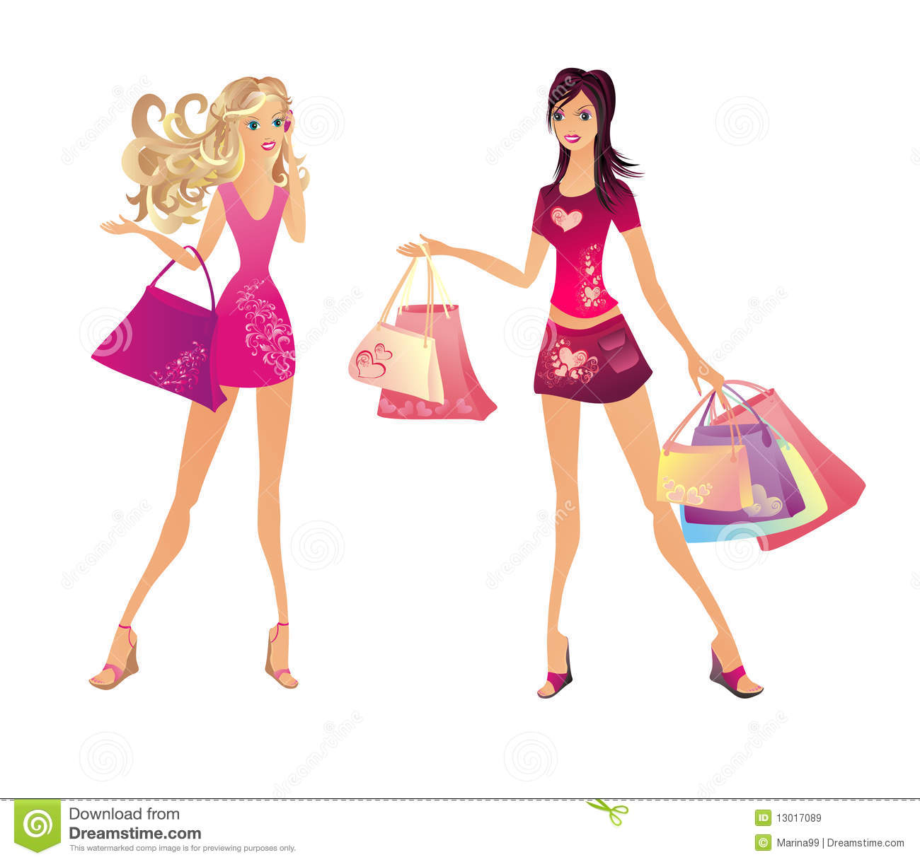 da80b213c Shopping Woman, Vector Illustration Stock Vector - Illustration of ...
