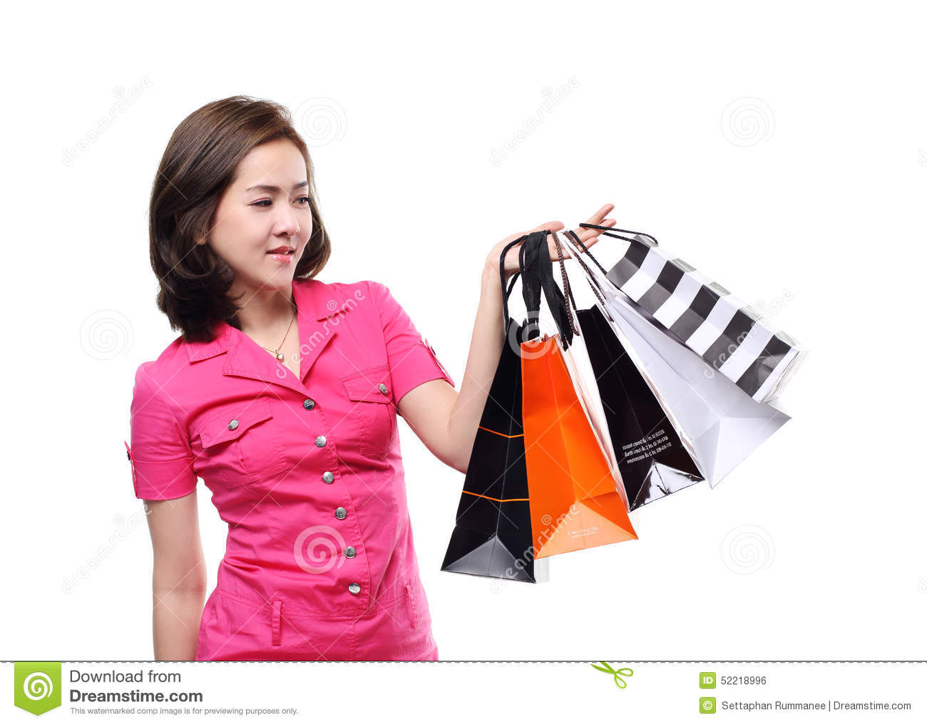Shopping women asian happy smiling holding shopping bags for Lovely hot pics