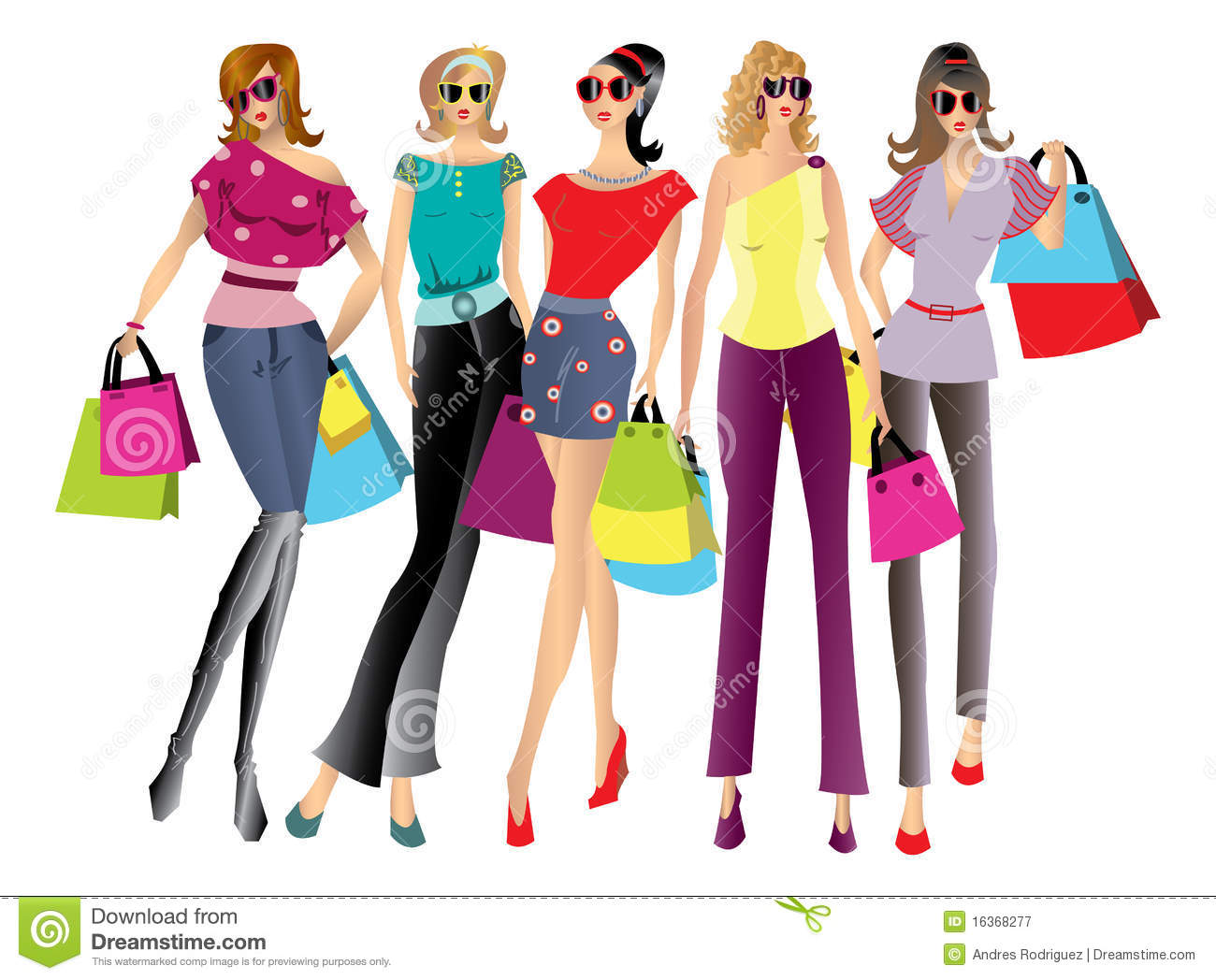 Shopping Women Illustration Royalty Free Stock Photography - Image ...