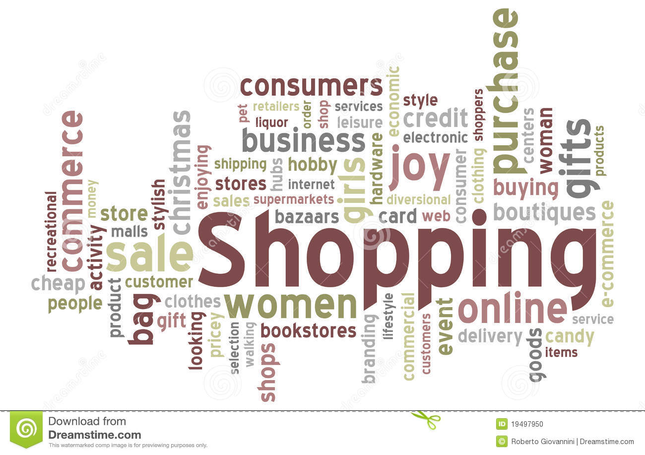 Shopping Word Cloud Stock Photography - Image: 10978652