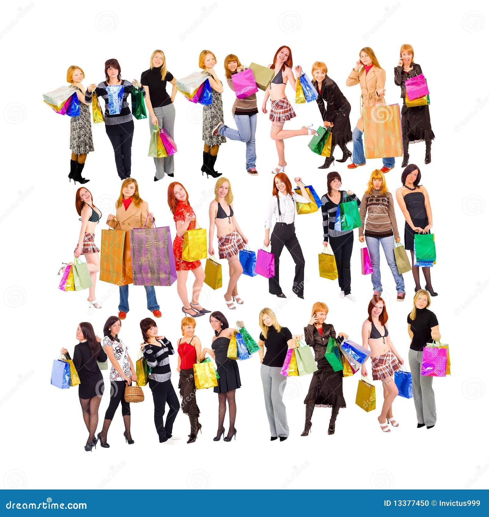 Shoppingfolkmassor