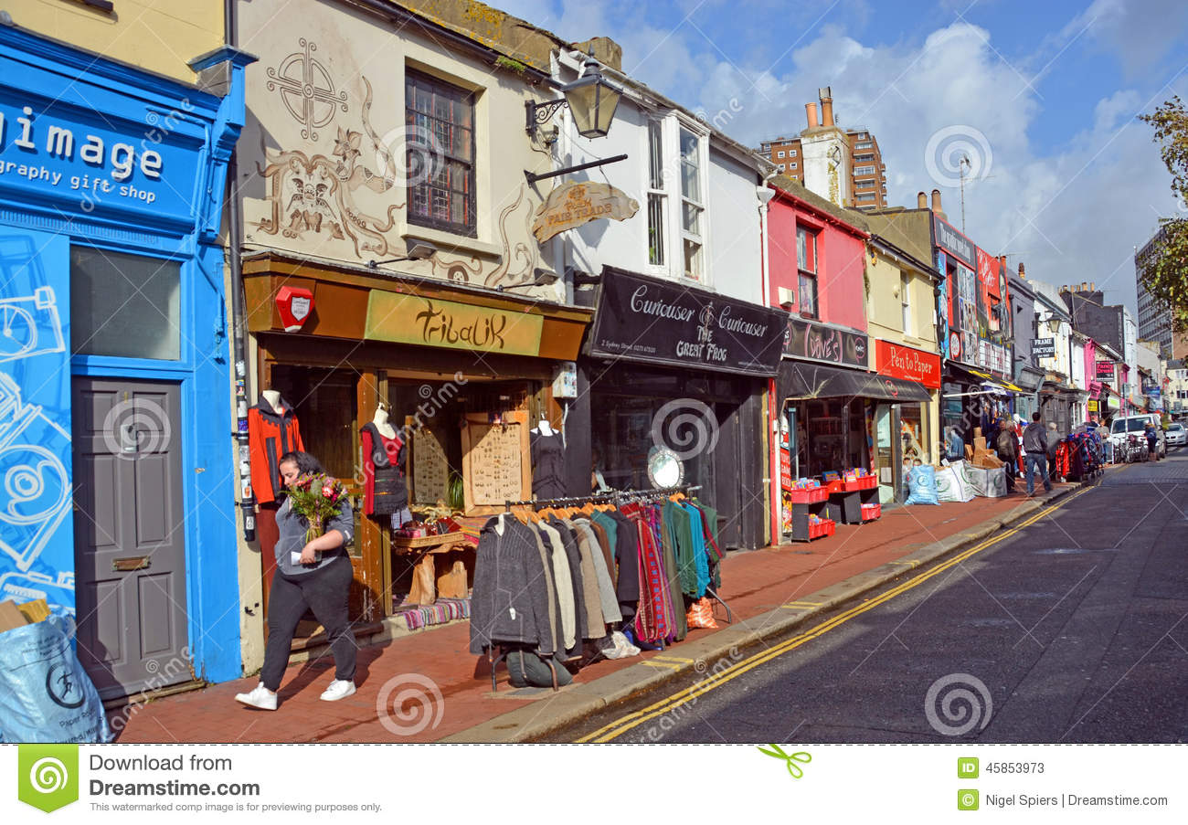 Shops in the famous brighton north laines district uk for The brighton