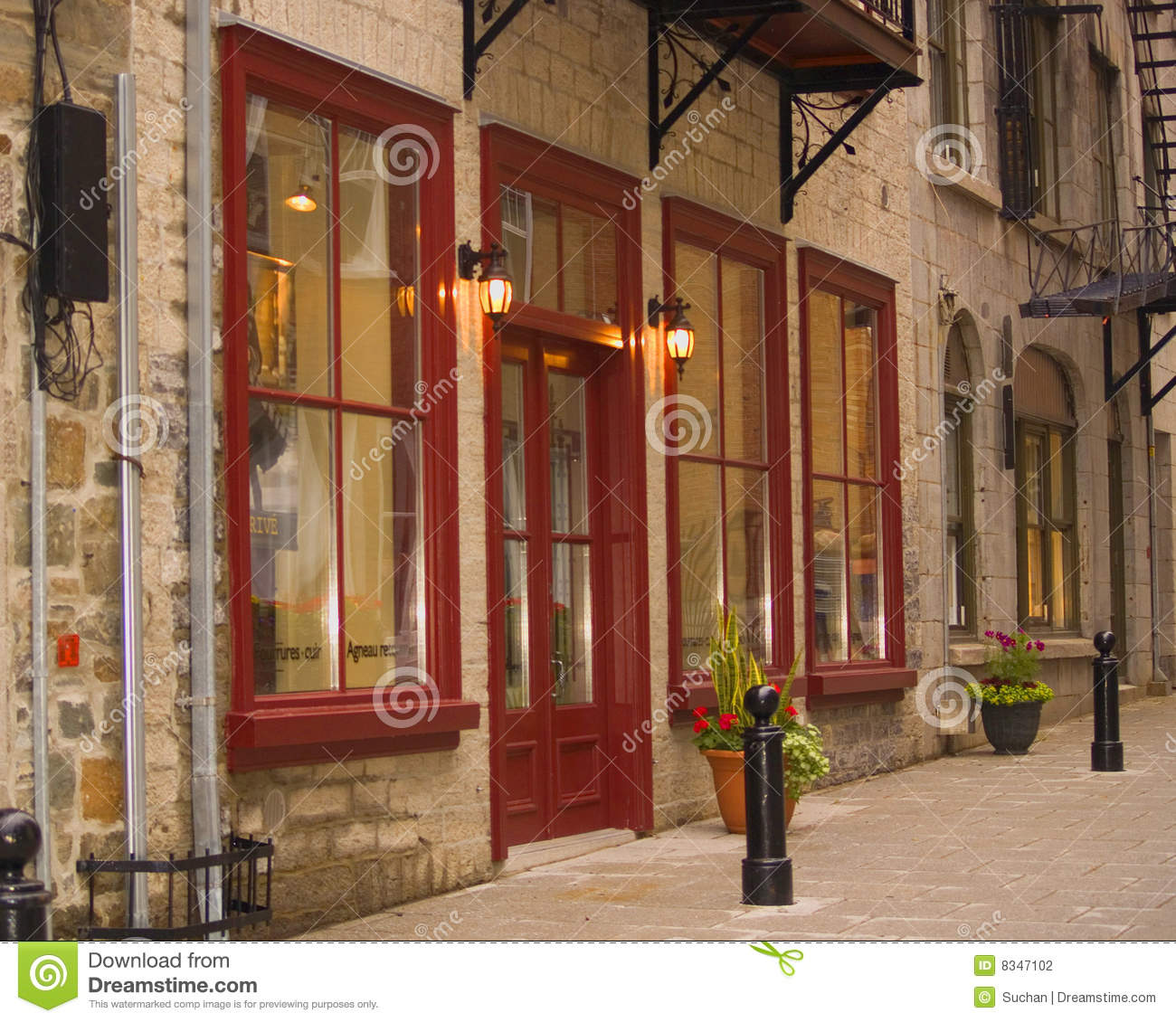 Shops In Old Quebec City, Canada Stock Photography