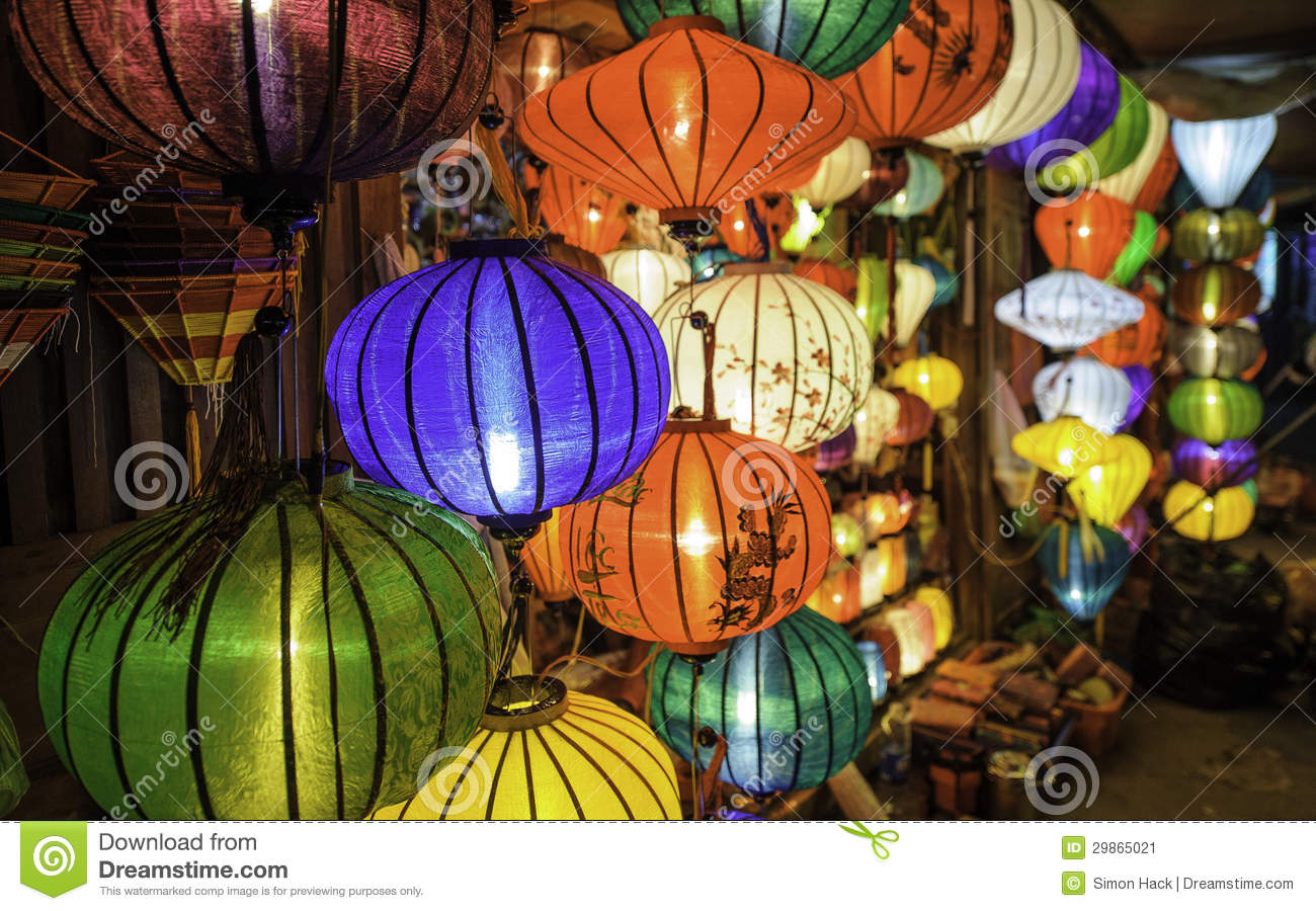 Download Chinese Lanterns In Hoi-an,vietnam 2 Stock Image - Image of east, blue: 29865021