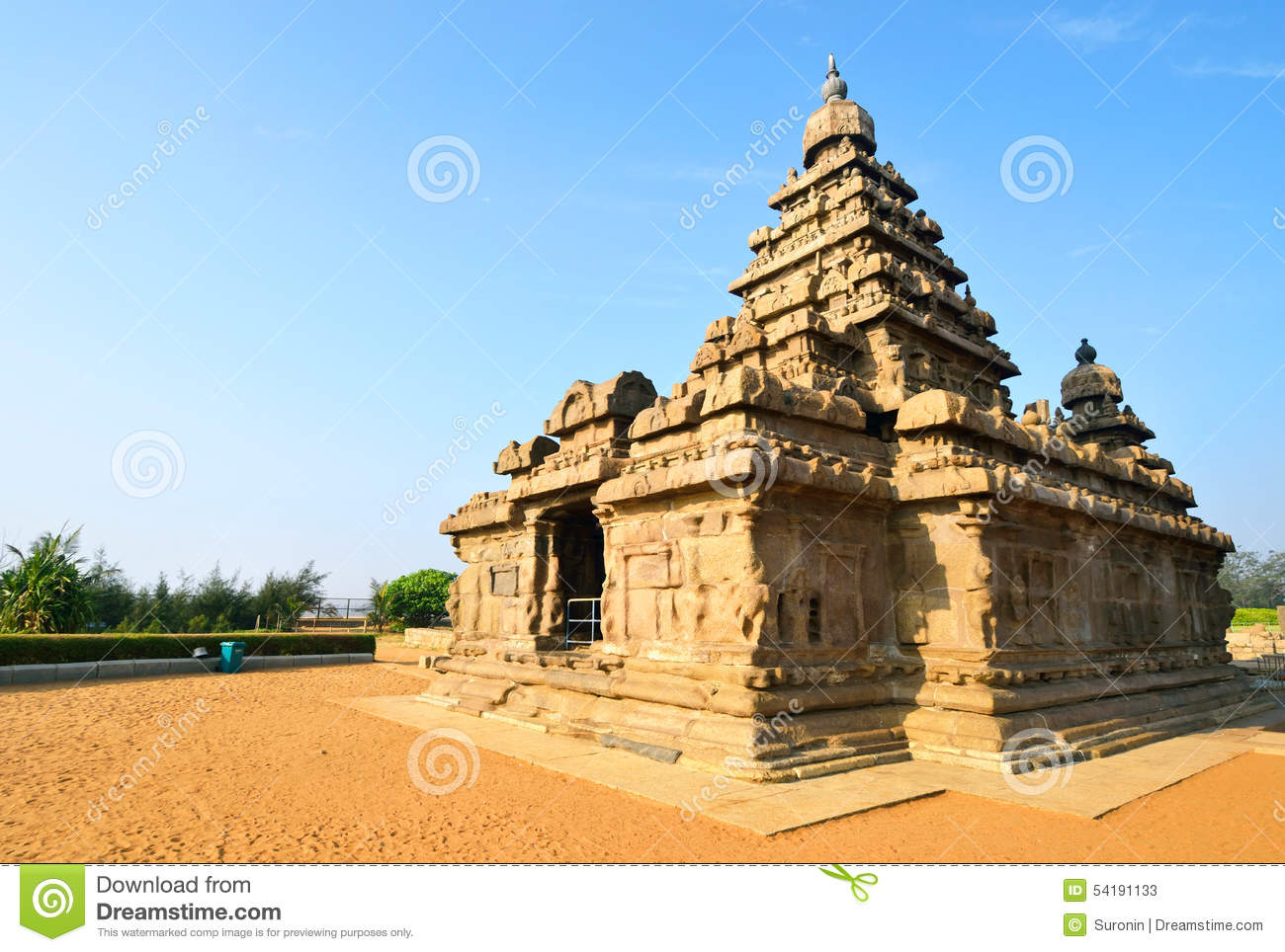 Download Shore Temple stock image. Image of building, india, asia - 54191133