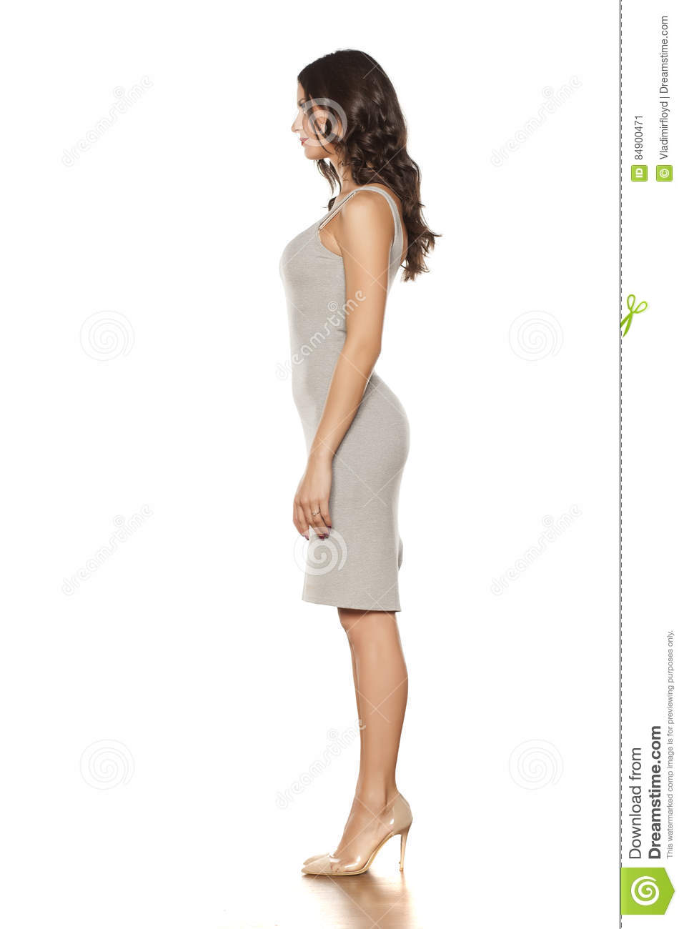 Short dress and high heels stock image. Image of cute