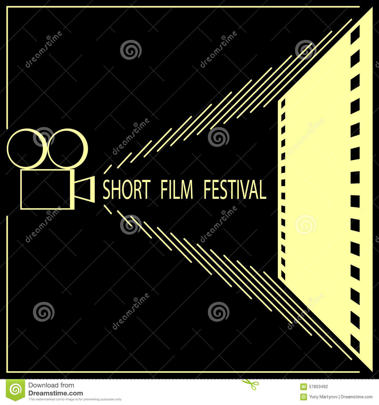 Short Film Festival, Cinema Film Festival Poster Stock Vector ...