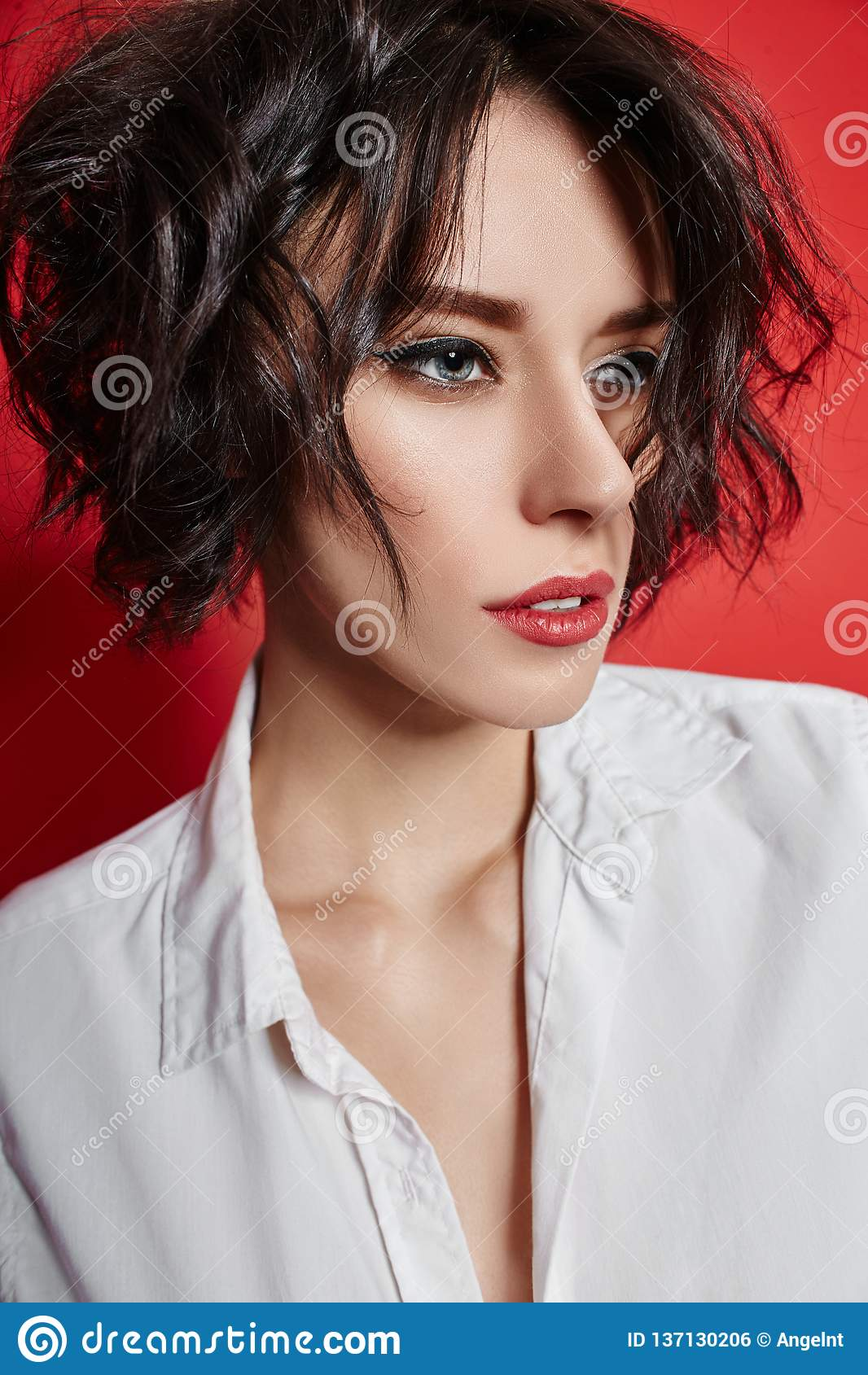 Nude Woman Short Hairstyle Stock Images - Download 289 Royalty Free Photos-8083