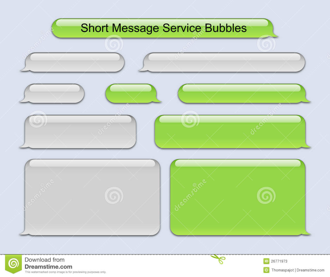short message service bubbles stock vector illustration of