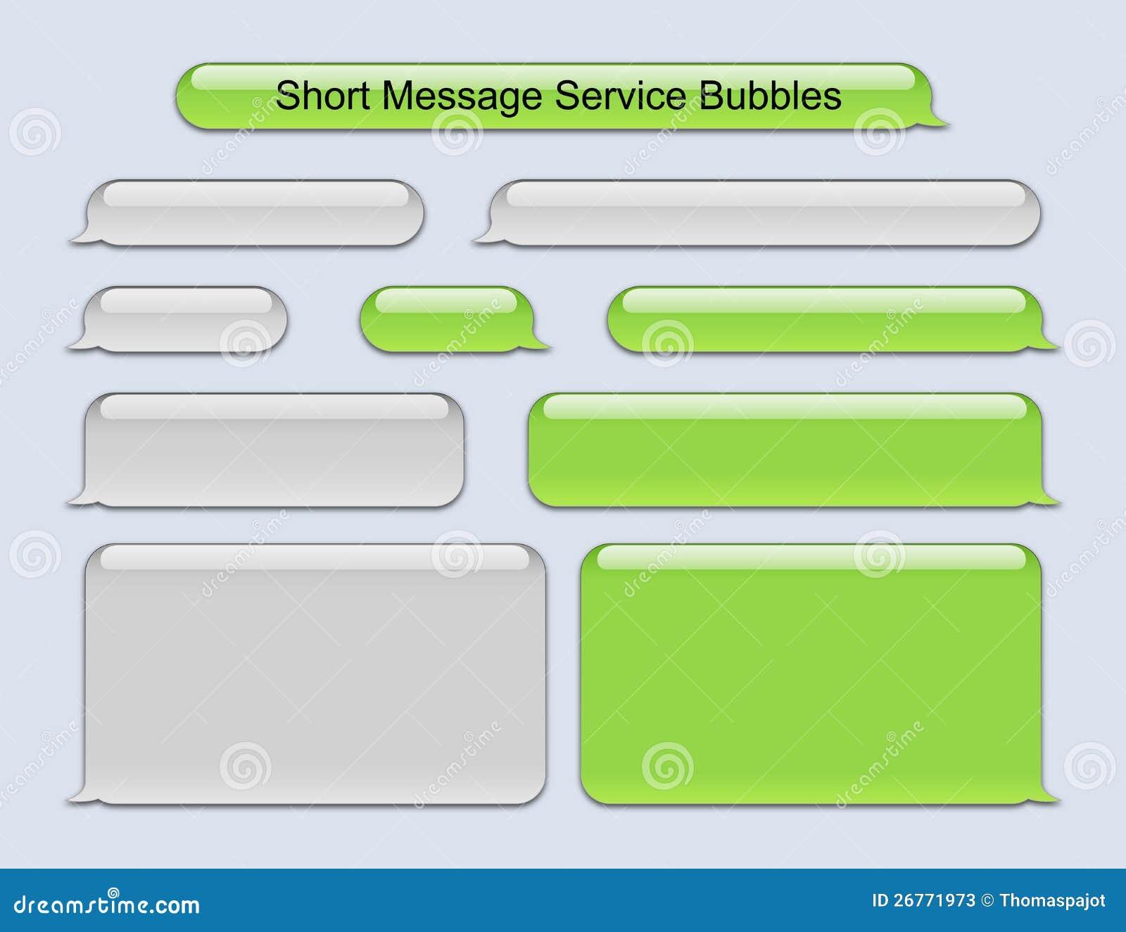 Blank Text Message Bubble Short Message Service Bubbles