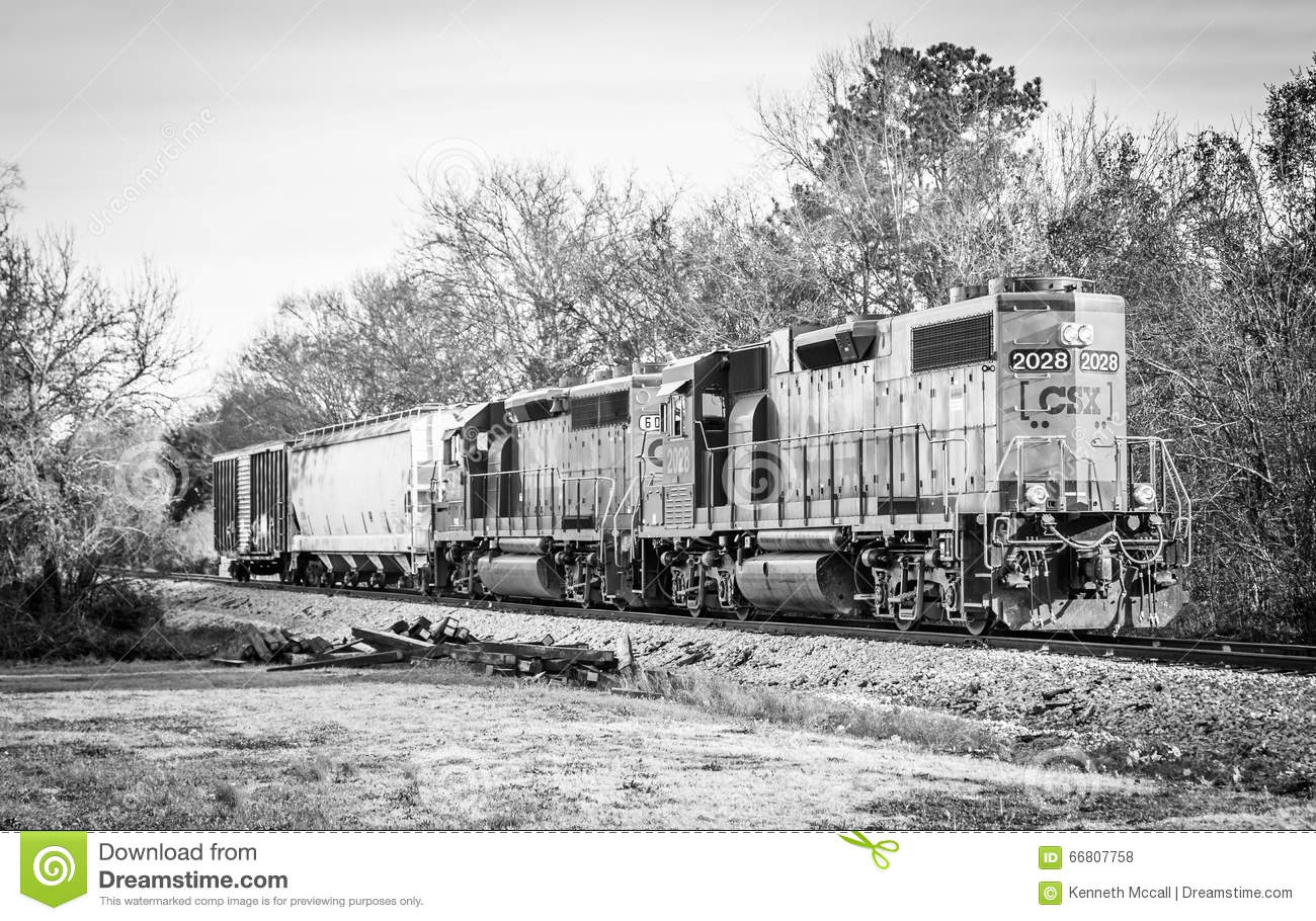 short train csx diesel locomotive black and white editorial stock photo image 66807758. Black Bedroom Furniture Sets. Home Design Ideas