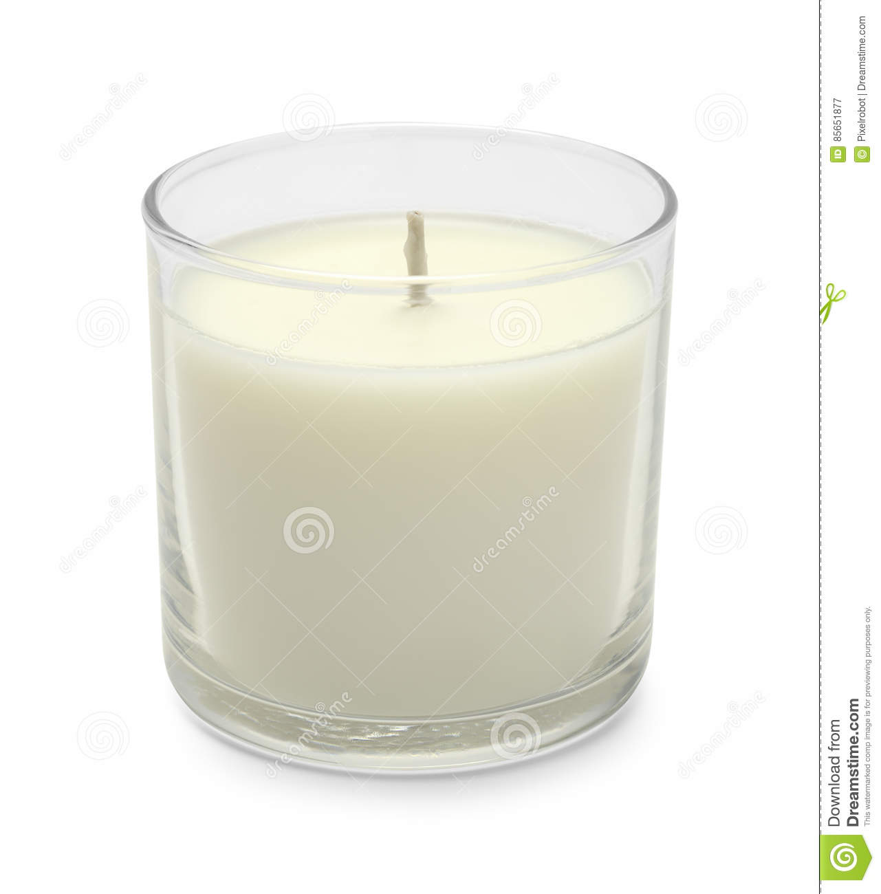 Download Short White Candle stock image. Image of votive, candlelight - 85651877