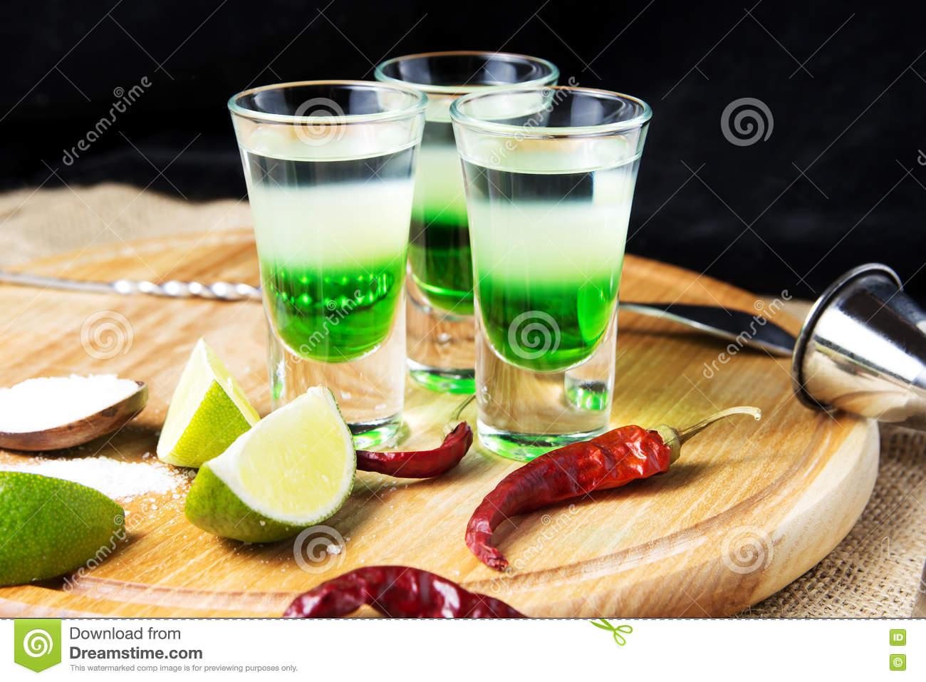Shot alcoholic cocktail royalty free stock photo for Good tequila mixed drinks
