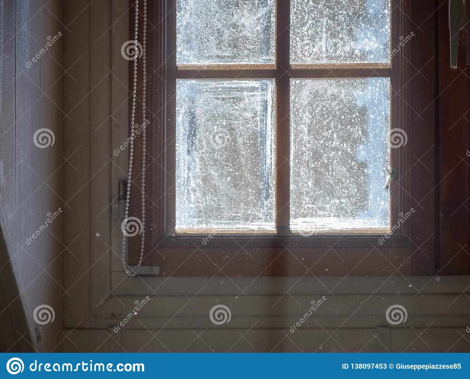 Shot of a window with light coming in