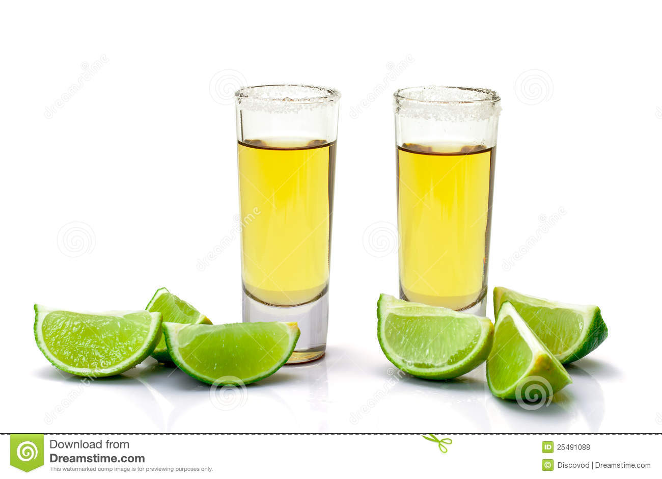 Shot Of Gold Tequila With Slice Lime Stock Photo Image