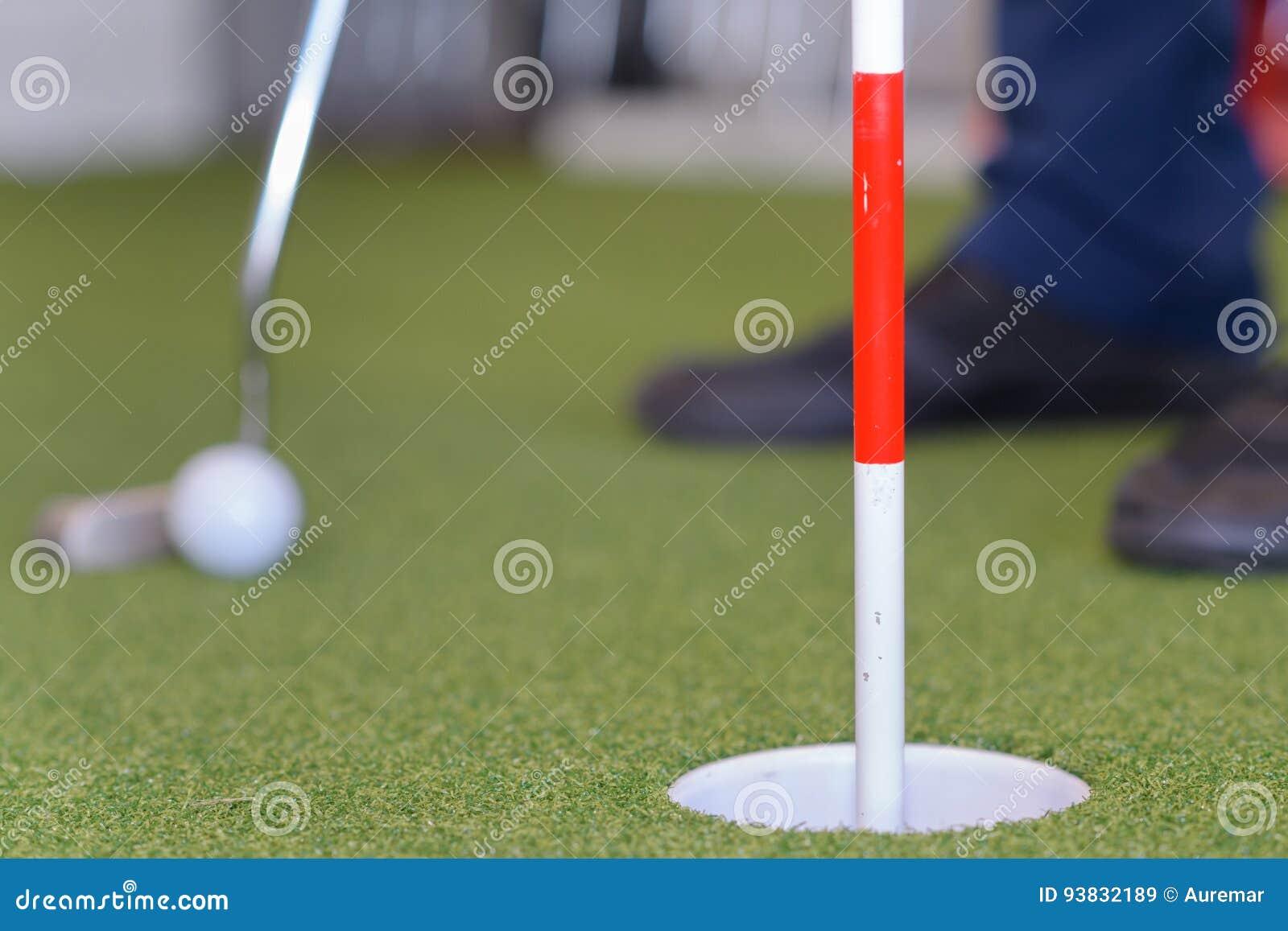 Shot golf ball with golf club