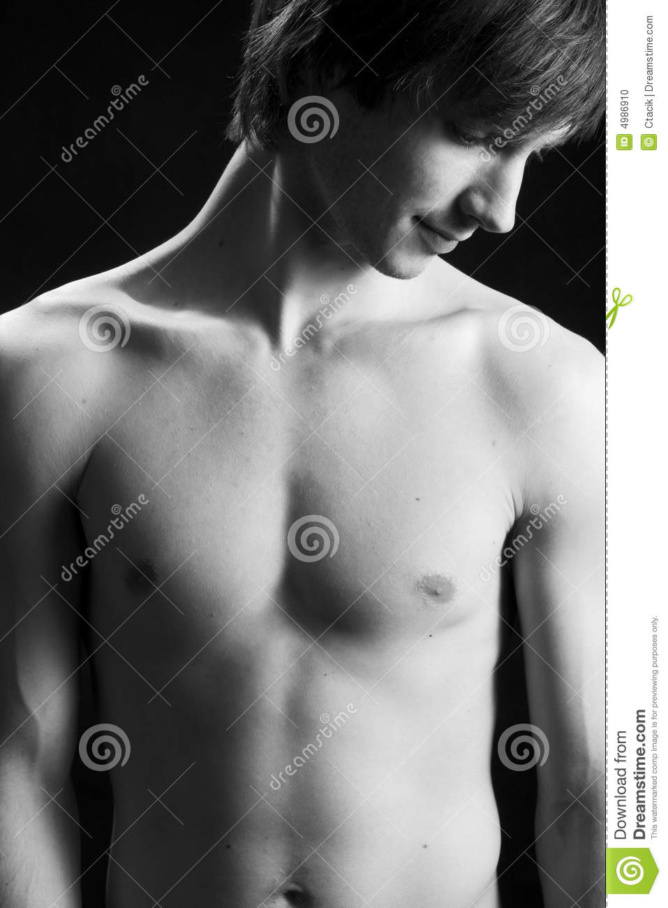 Shot of a male torso
