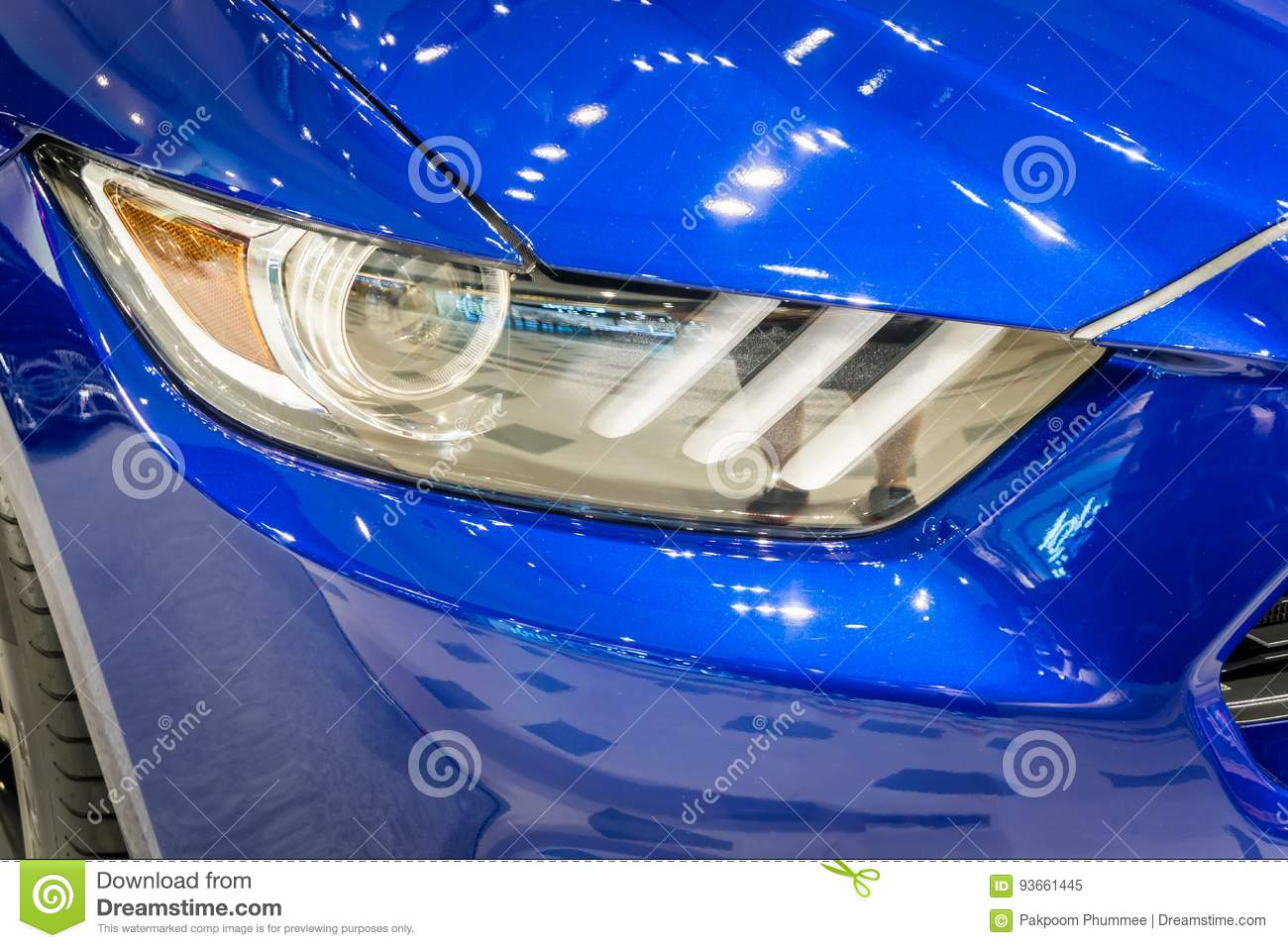 Shot of a modern car headlight