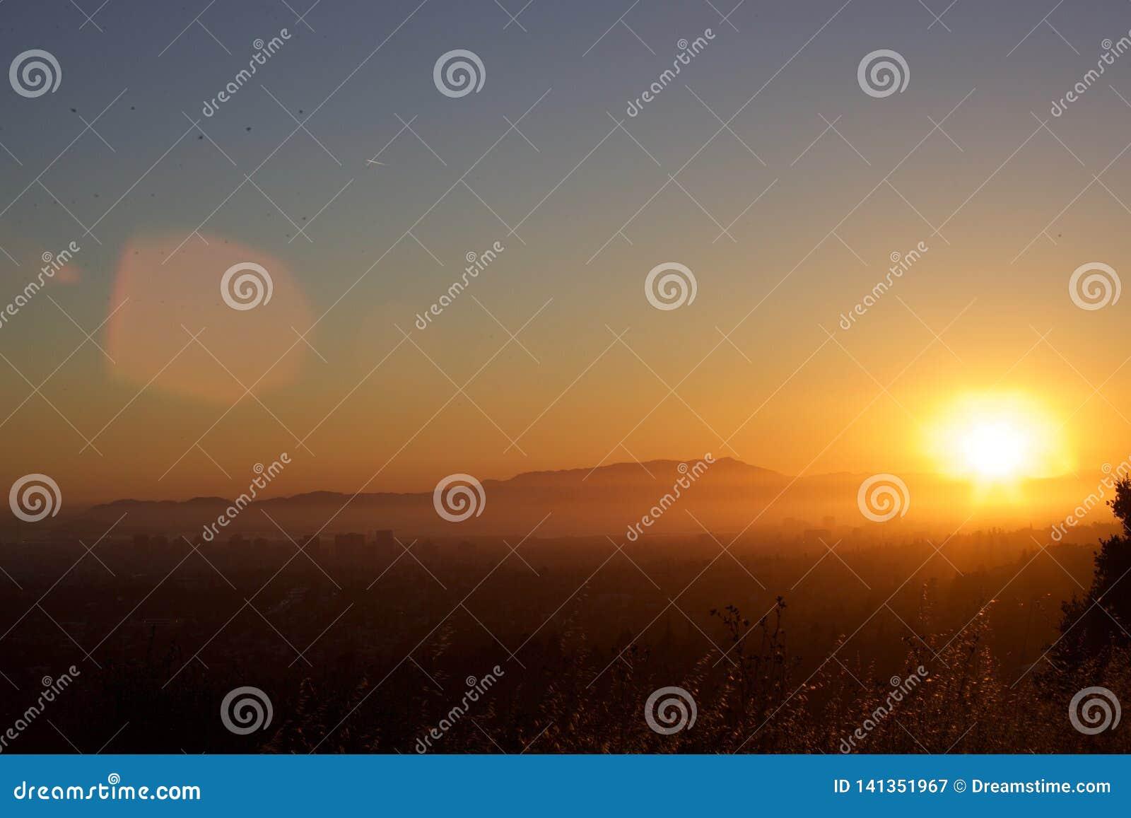 Mount Tam, Bay Area sunset shot.