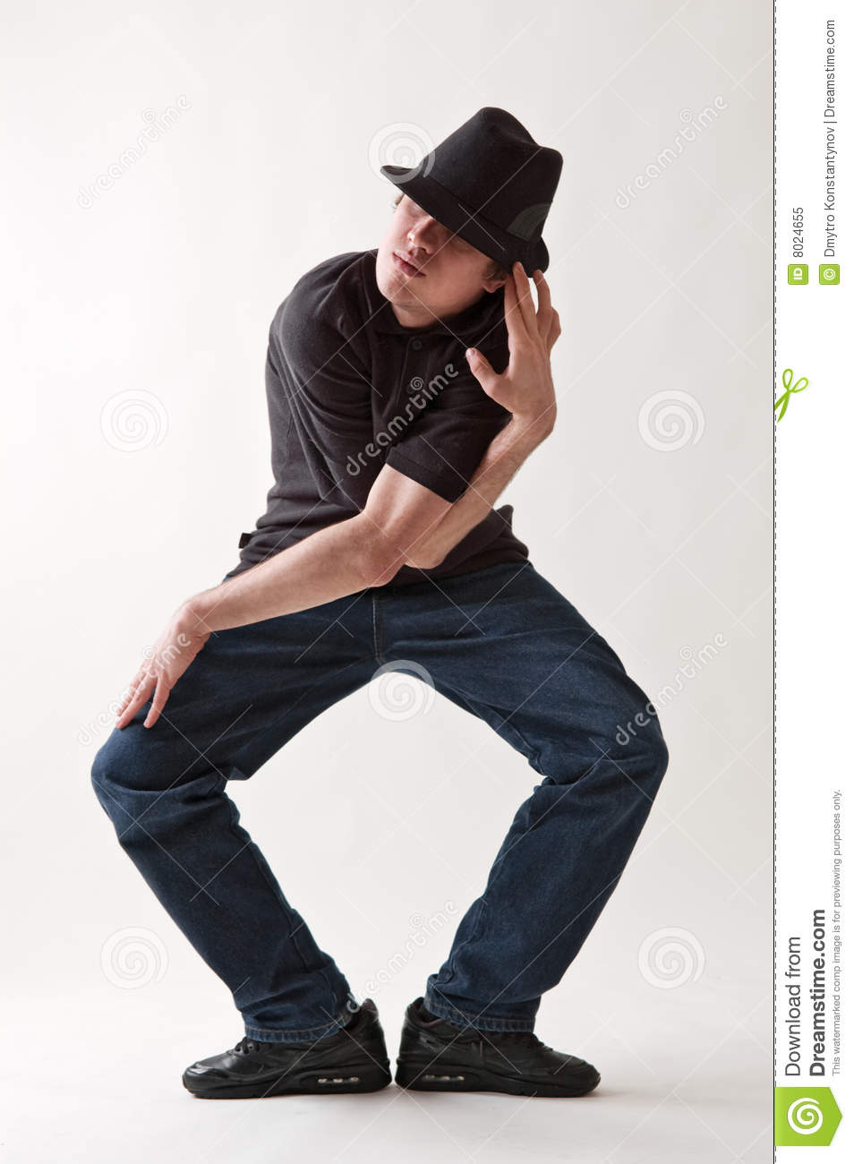 Shot of stylish dancer in hat