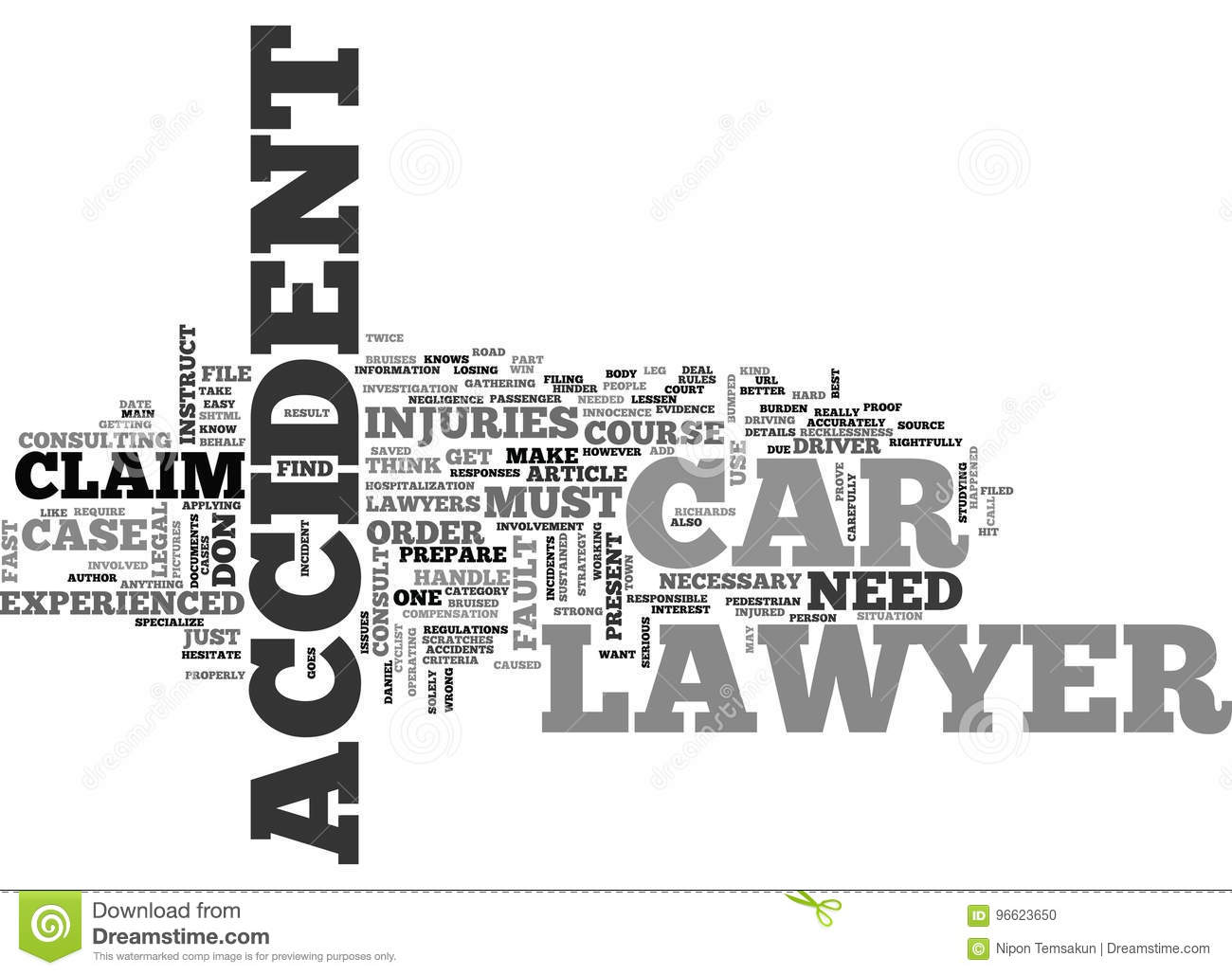 When Should You Instruct A Car Accident Lawyer Word Cloud