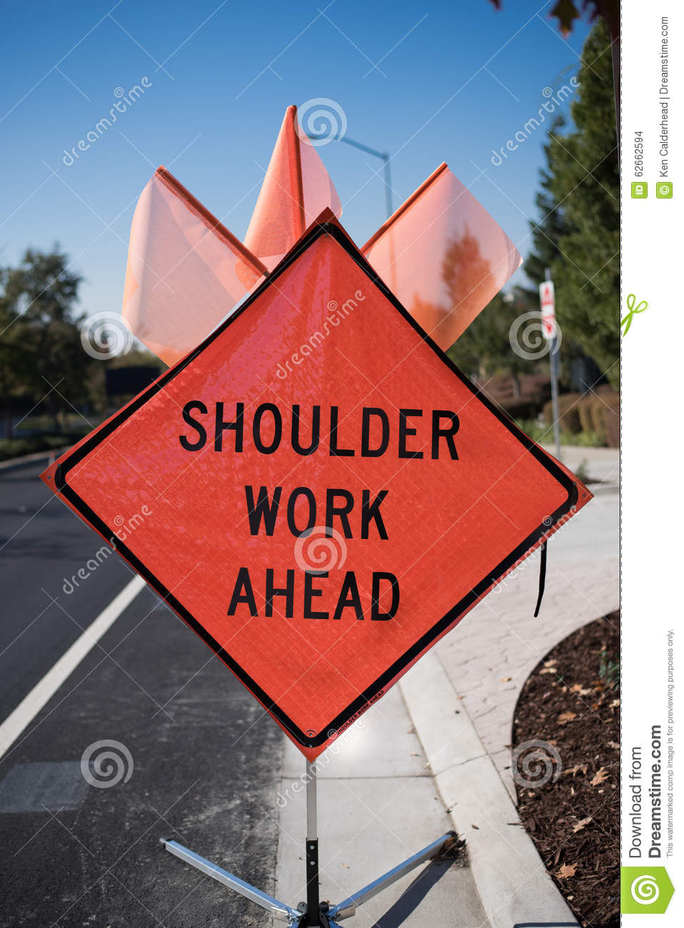Construction Sign Clipart Shoulder Work Ahead Si...