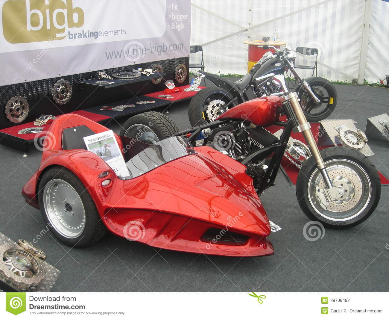 Show Bike With Sidecar Editorial Photography Image Of