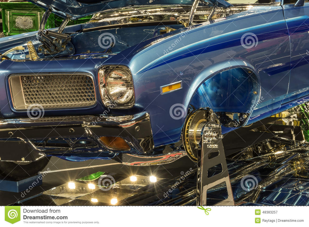 Show Car Front End Stock Image Image Of Competitor Autos - Car show display mirrors
