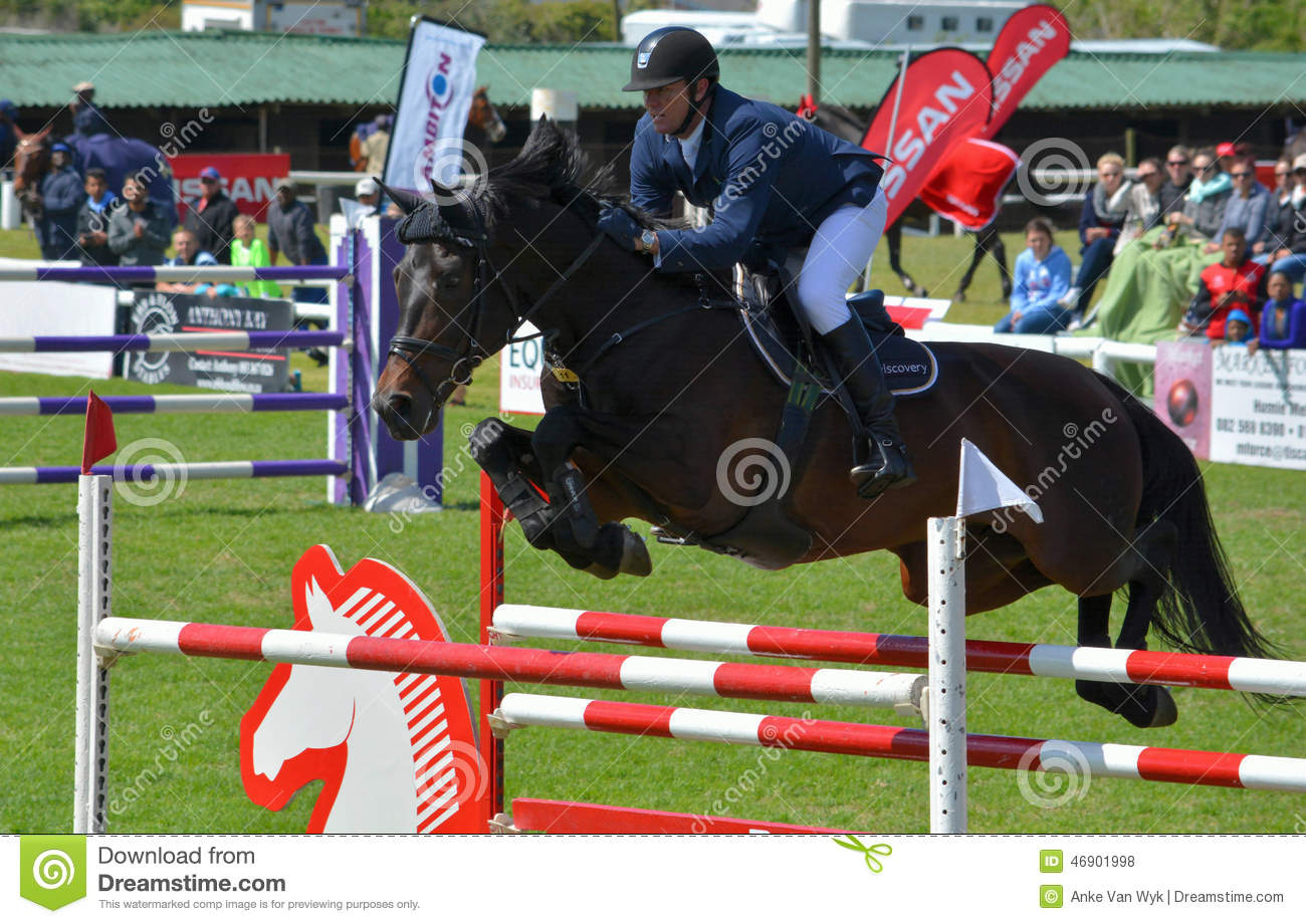 Show Jumping Horse And Rider Editorial Stock Photo Image Of Jumps Showjumping 46901998