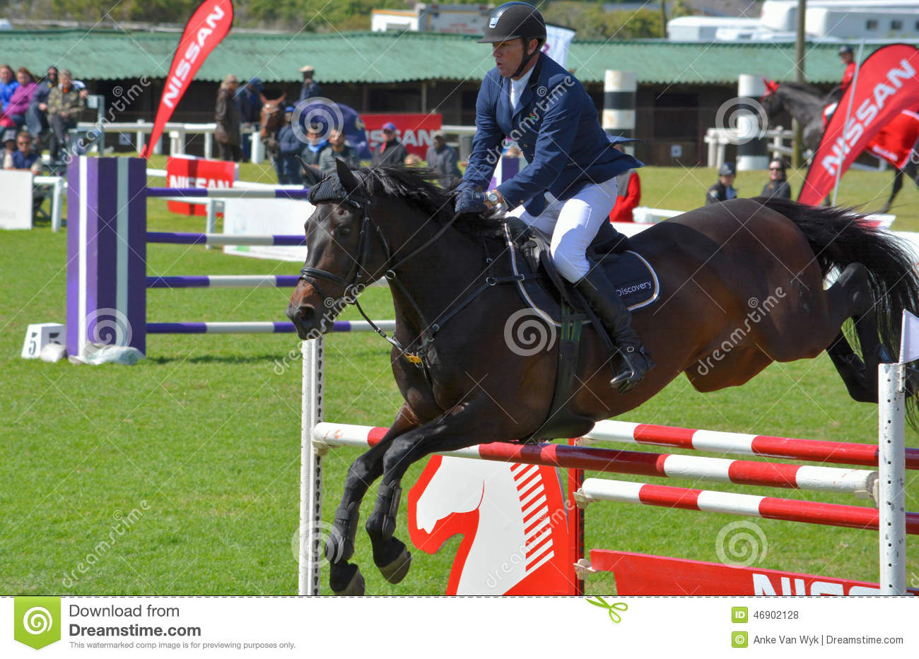 Show Jumping Horse And Rider Editorial Stock Photo Image Of Elizabeth Port 46902128