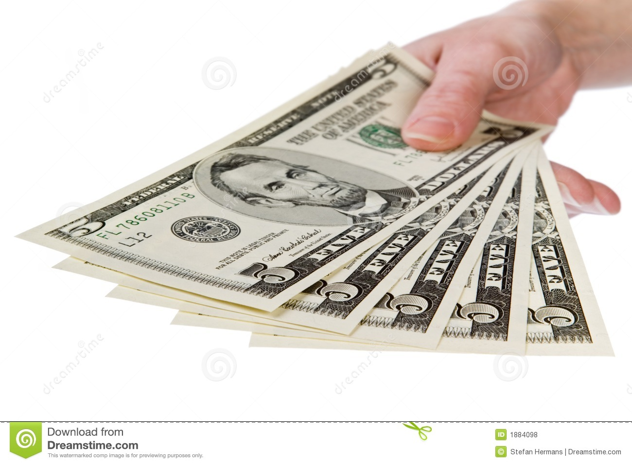 New 100 Dollar Bill Background Stock Image  Image of