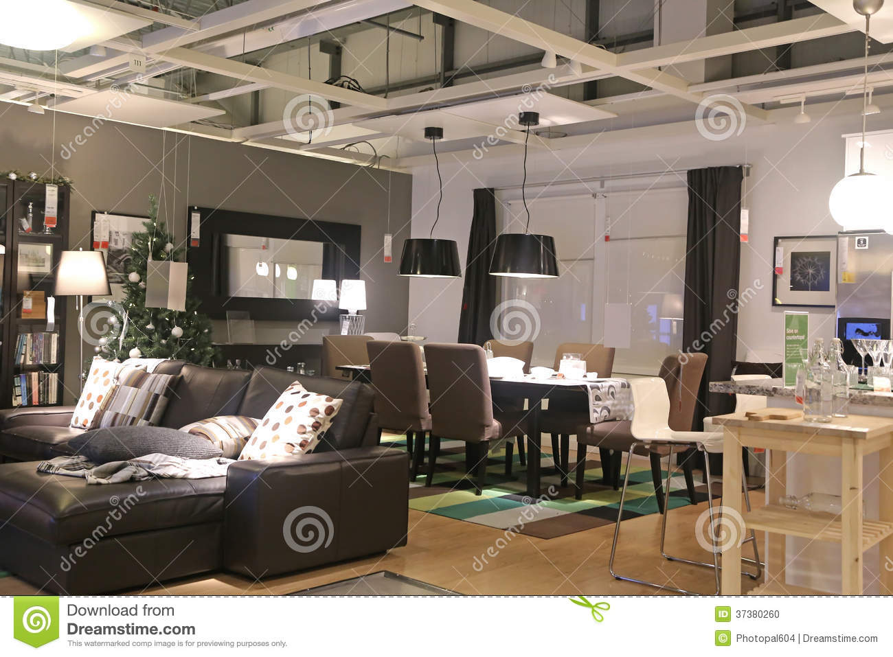 show room inside ikea store editorial image image 37380260. Black Bedroom Furniture Sets. Home Design Ideas