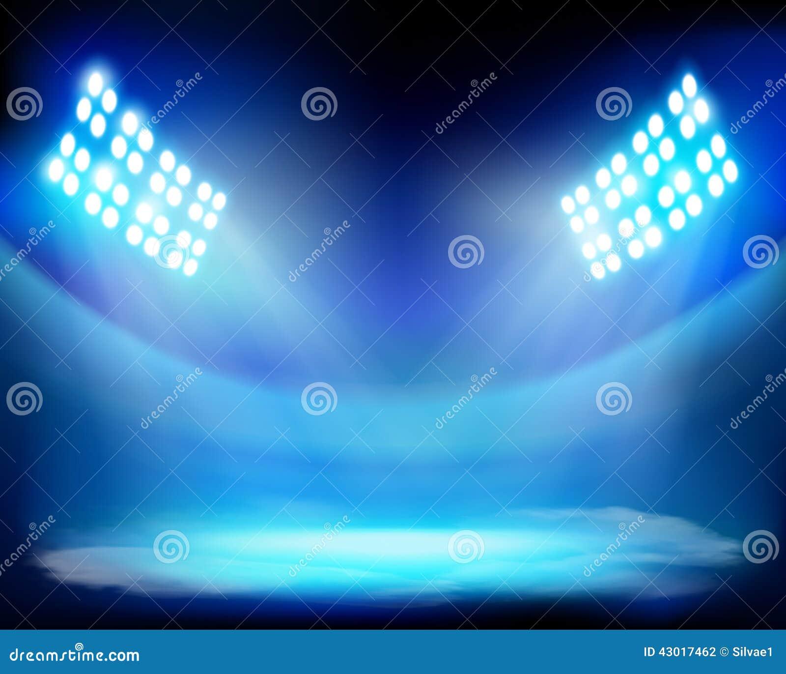 Stadium Lights Svg: Show On The Stadium. Vector Illustration. Stock Vector