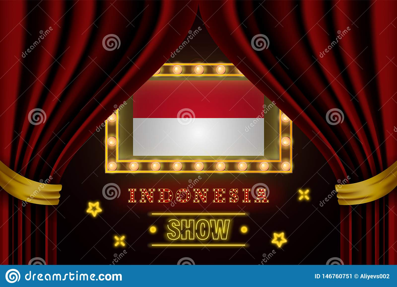Show Time Board For Performance Cinema Entertainment Roulette Poker Of Indonesia Country Event Shining Light Bulbs Vintage Of Stock Illustration Illustration Of Jakarta National 146760751