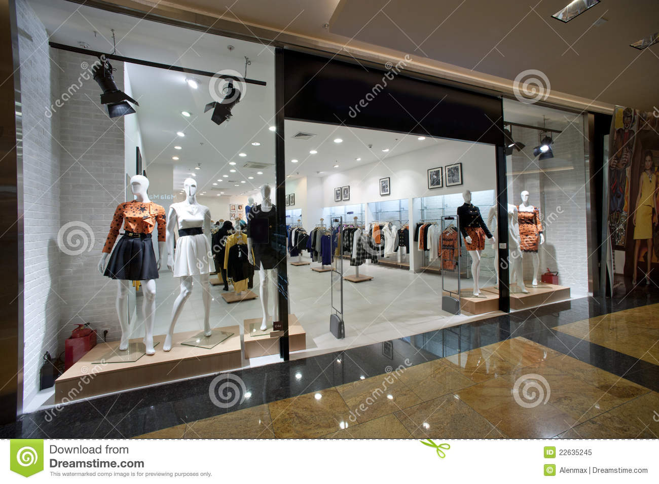 Show-window Of A Female Boutique Editorial Image - Image