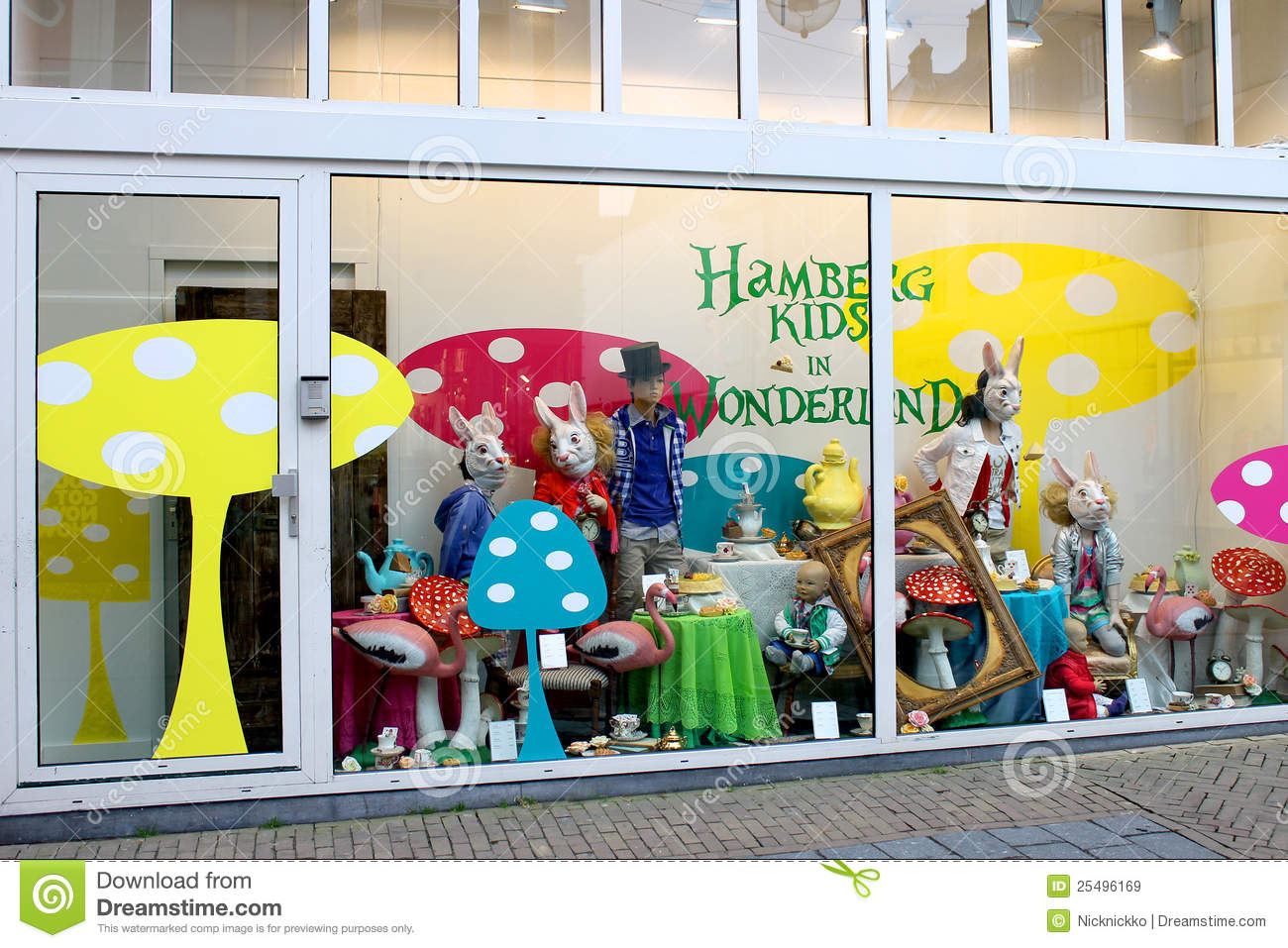 Show Window Of Shop Of Goods For Kids