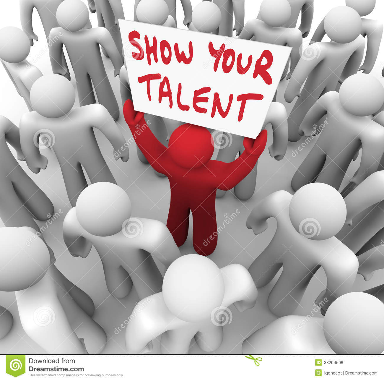 show your talent person holding sign display skills abilities show your talent person holding sign display skills abilities