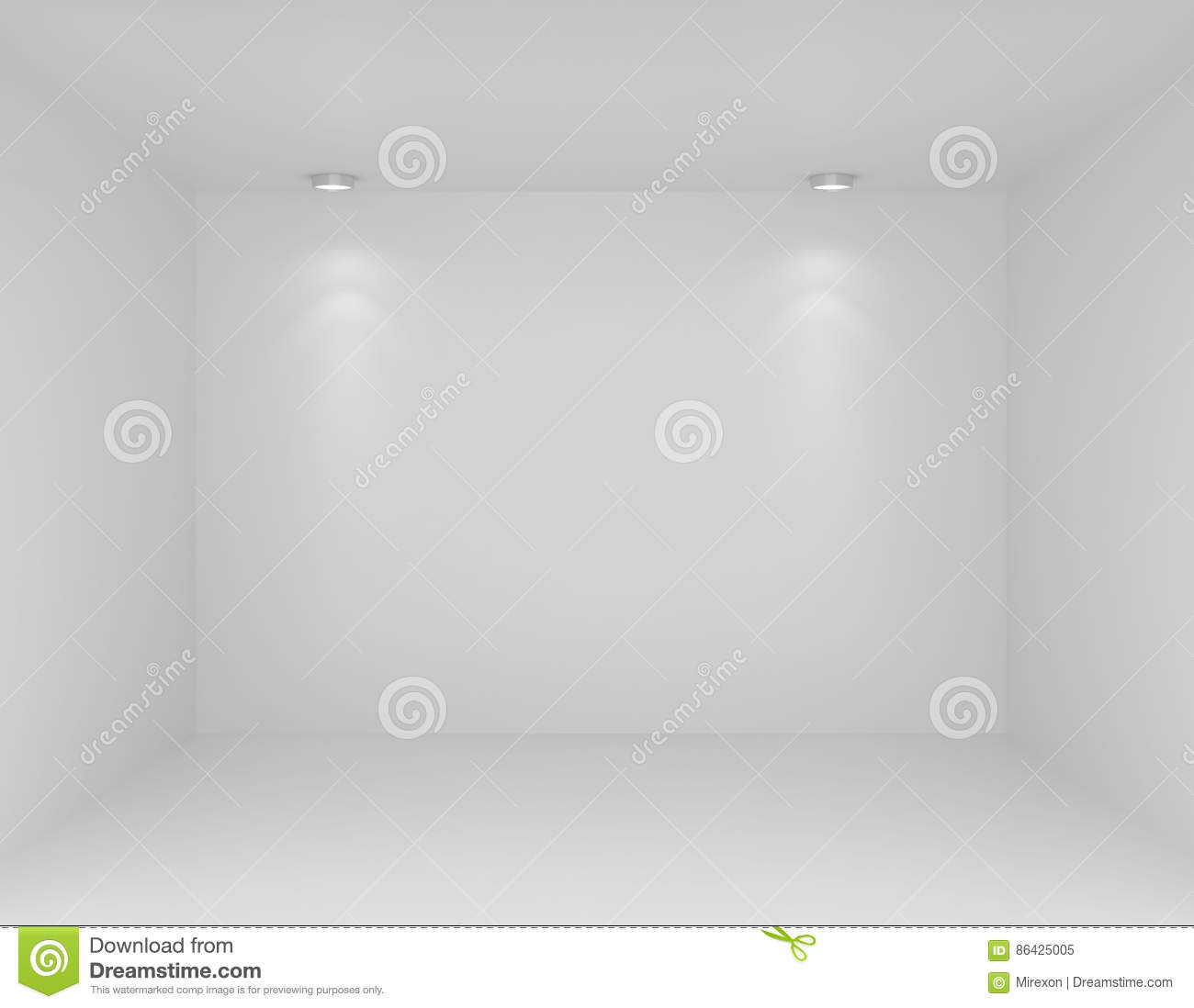 Showcase With Lights And Podiums For Samples Product Stock