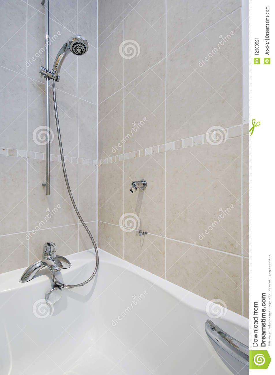 Shower Attachment Detail Stock Image Image 12388521