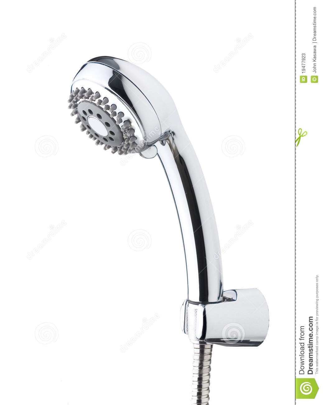 Chrome Shower Head Isolated On White Stock Image - Image of droplets ... for shower head clipart black and white  45gtk