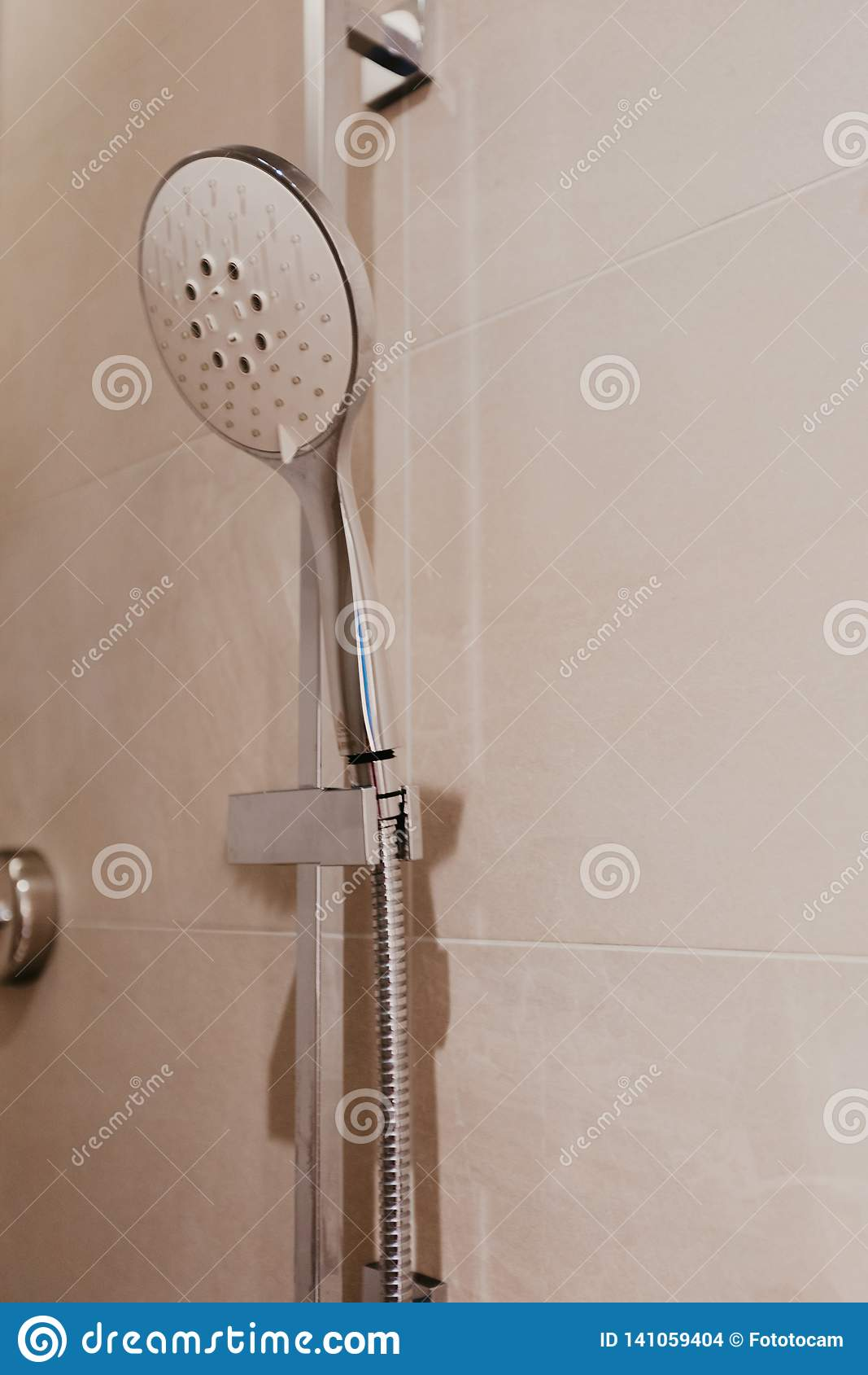 Shower in bathroom interior - Image