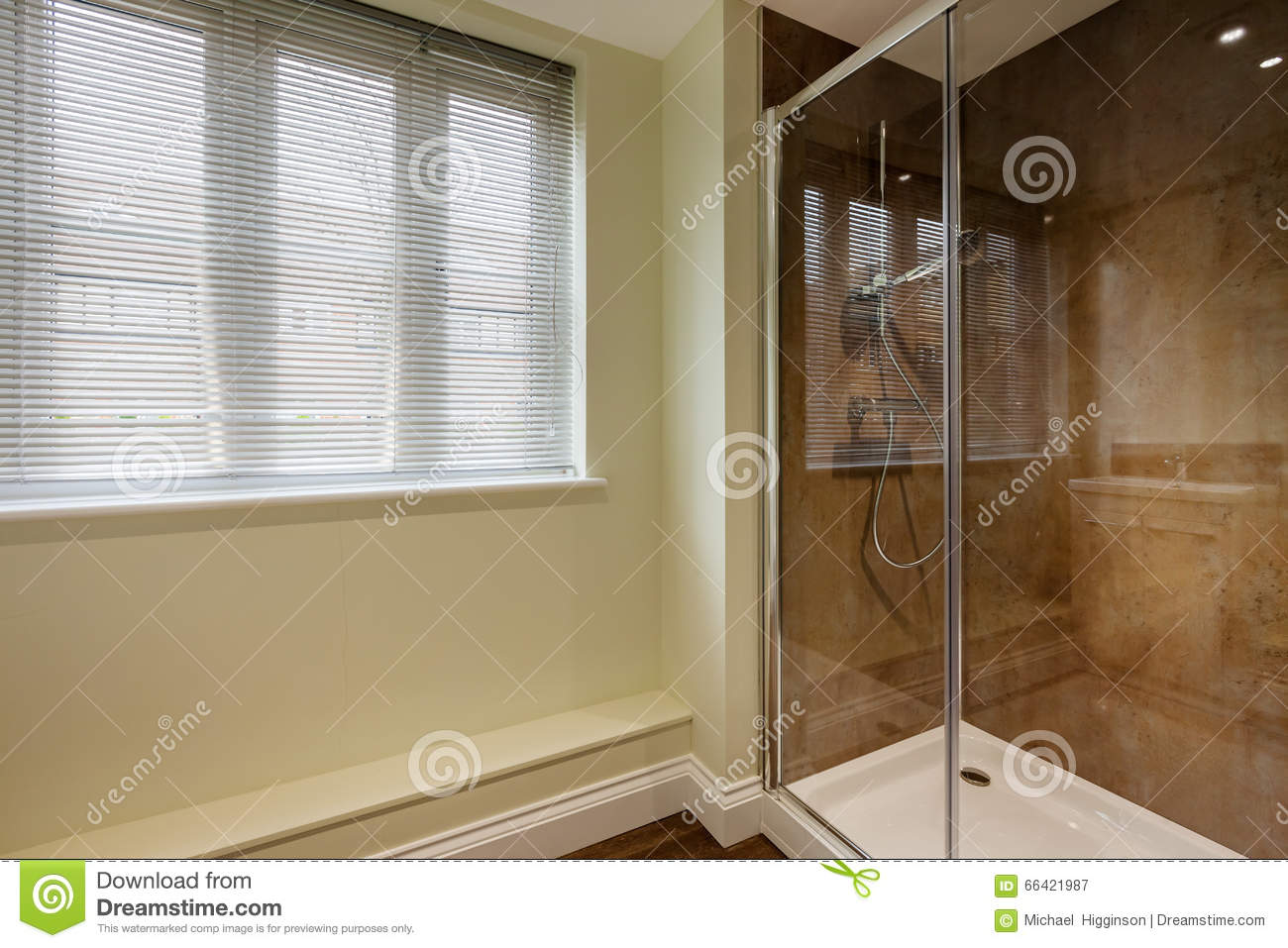 Shower cubicle stock image. Image of double, home, venetian - 66421987