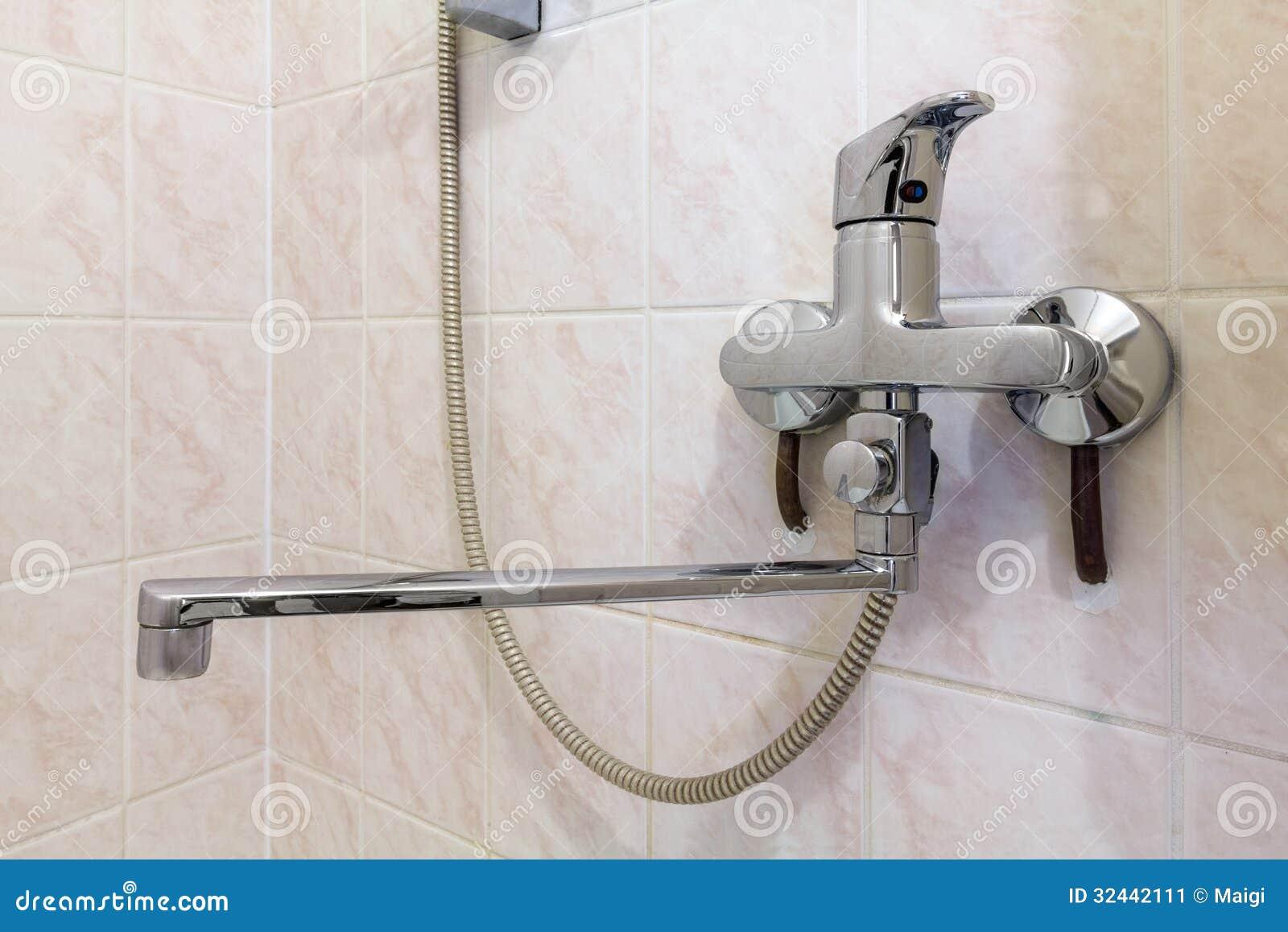 Download Shower Faucet stock image. Image of chrome, valve, bath - 32442111