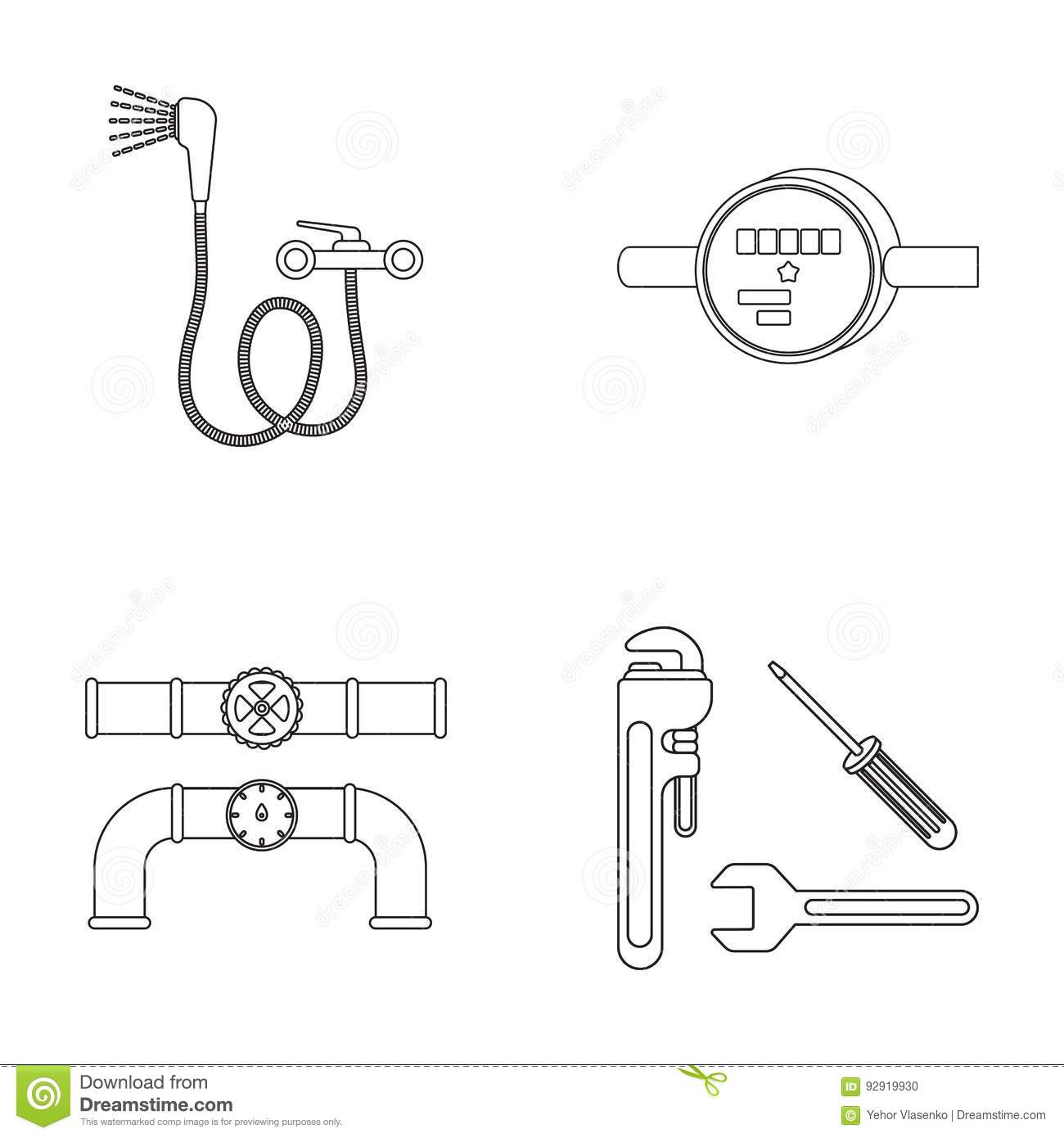Lovely Water Faucet Vectorce Symbol For Meter Ideas Electrical
