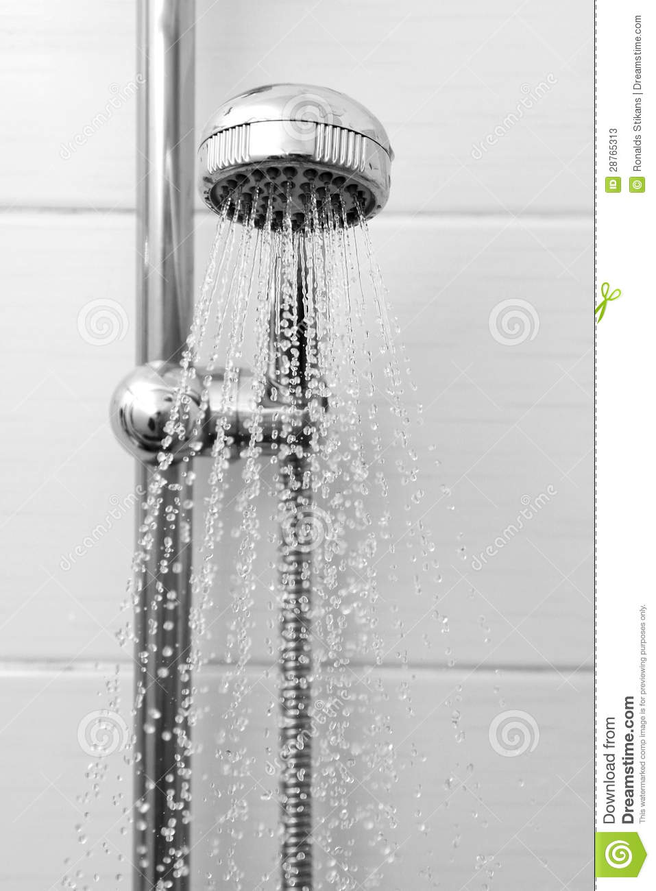 Shower Head With Running Water Stock Photos Image 28765313