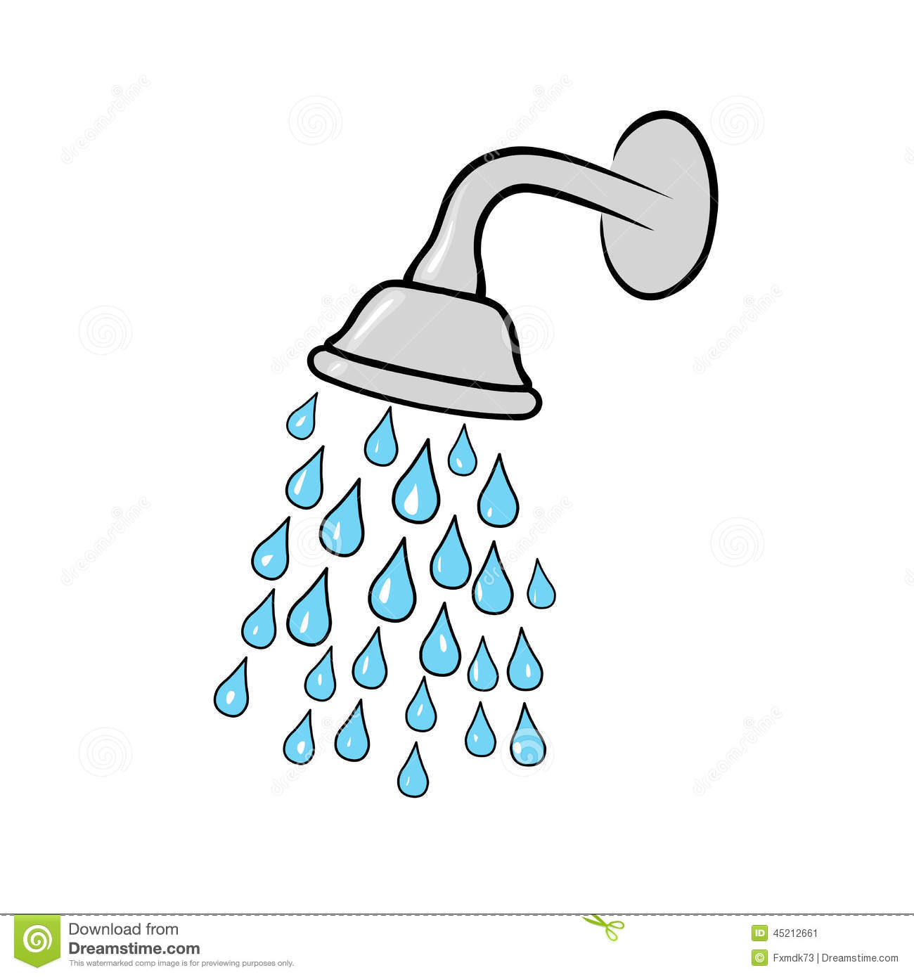 Shower Head Stock Vector Image Of Clean Spilling