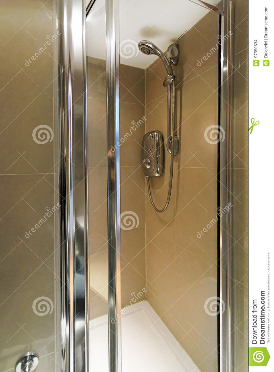 Shower interior stock photo. Image of small, faucet, home - 97690634
