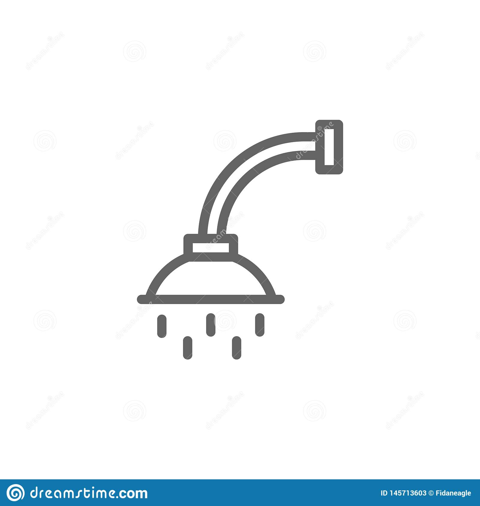 Shower outline icon. Elements of Beauty and Cosmetics illustration icon. Signs and symbols can be used for web, logo, mobile app,